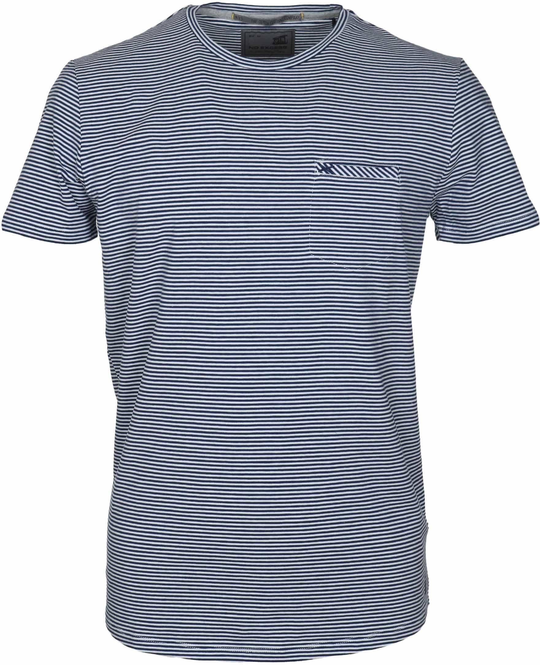 No-Excess T-shirt Dunkelblau Streifen foto 0
