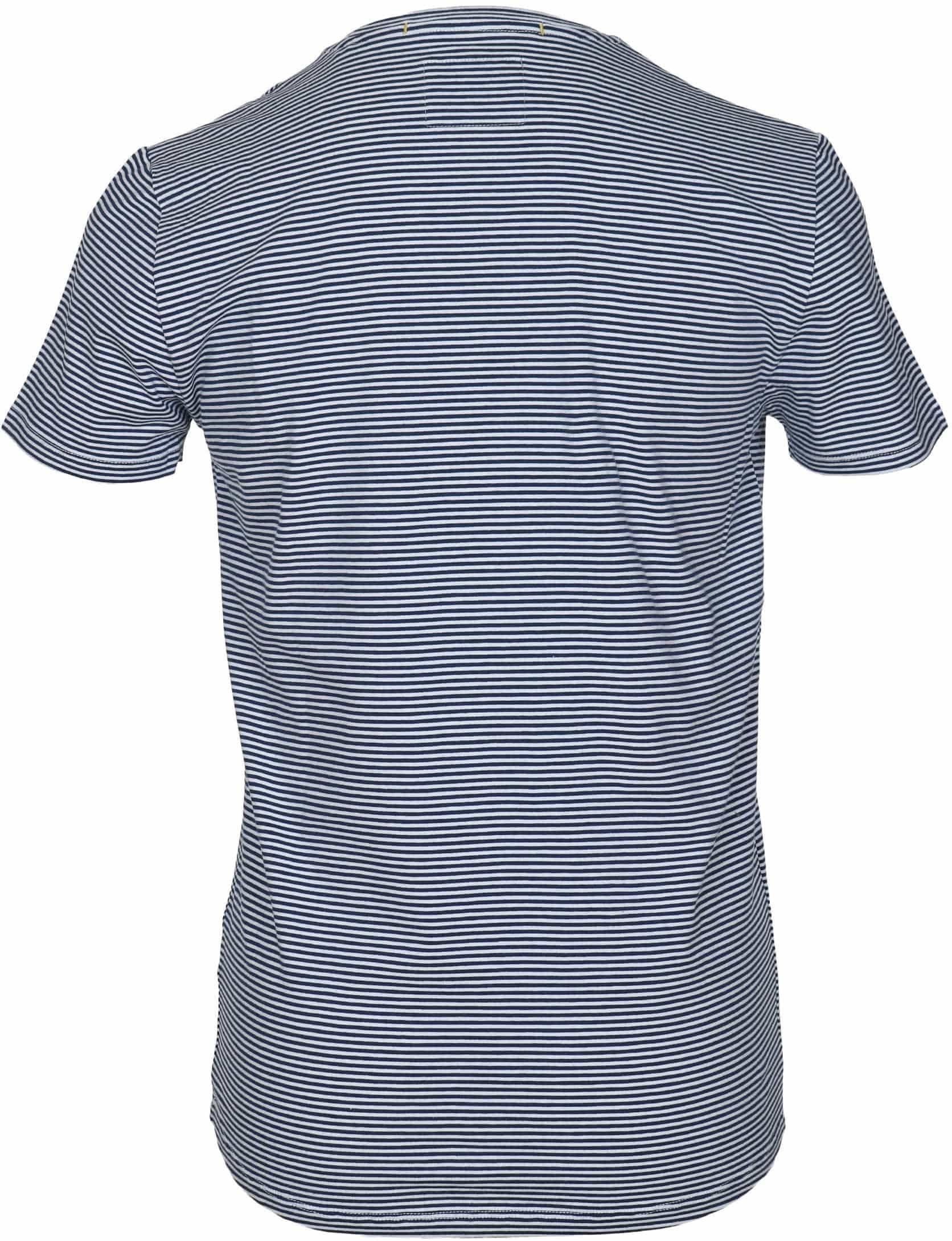 No-Excess T-shirt Dunkelblau Streifen foto 2