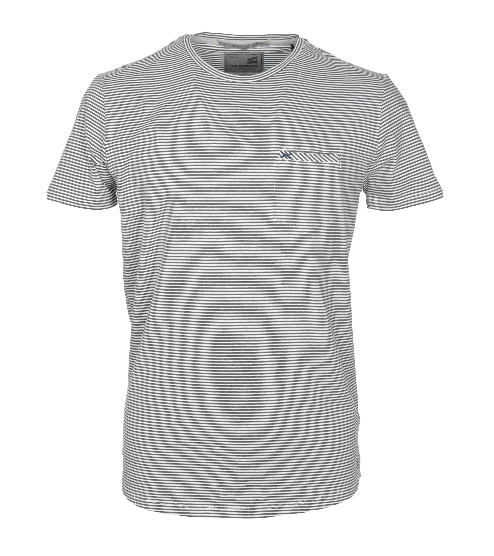 No-Excess T-shirt Grau Streifen foto 0