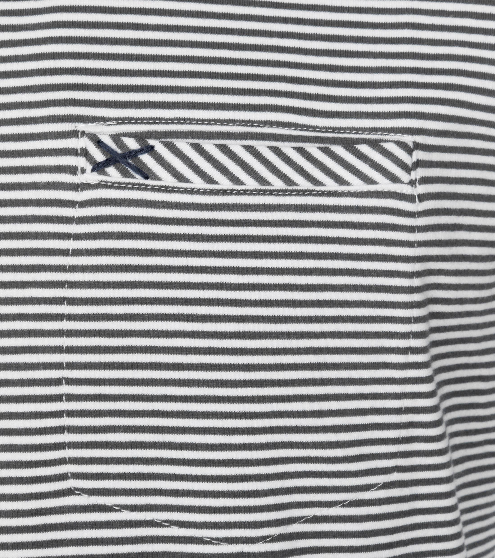 No-Excess T-shirt Grau Streifen foto 1