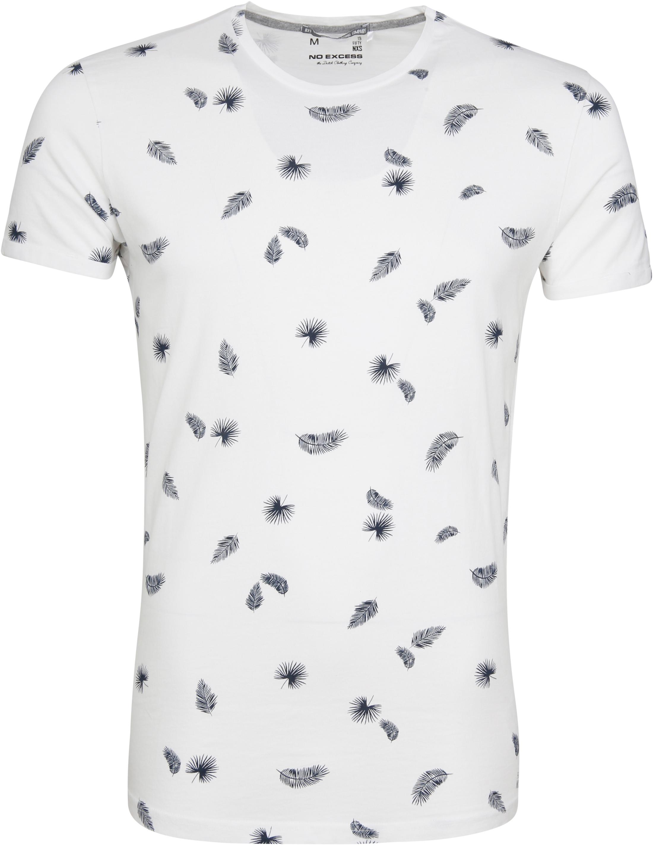 No-Excess T-shirt Palm Print White foto 0