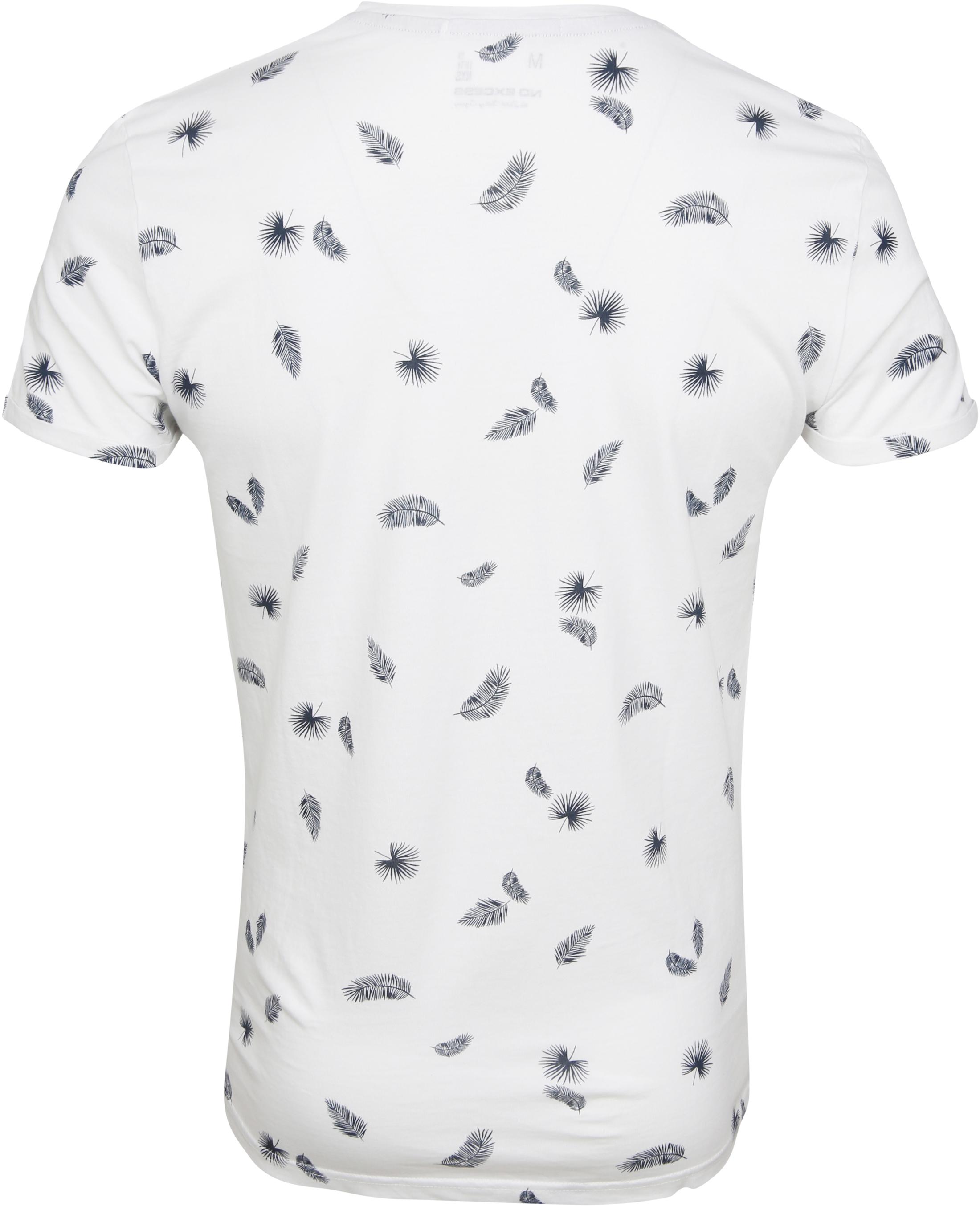 No-Excess T-shirt Palm Print White foto 2