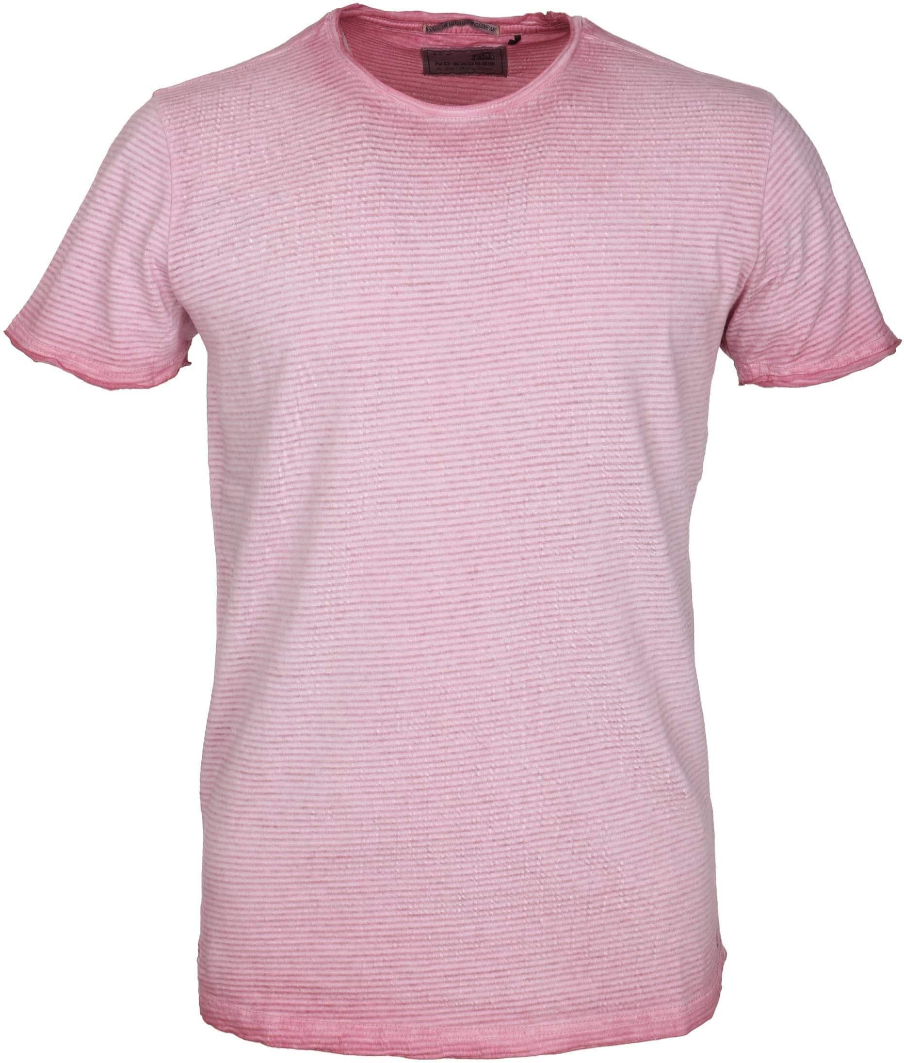 No-Excess T-shirt Rosa Streifen foto 0