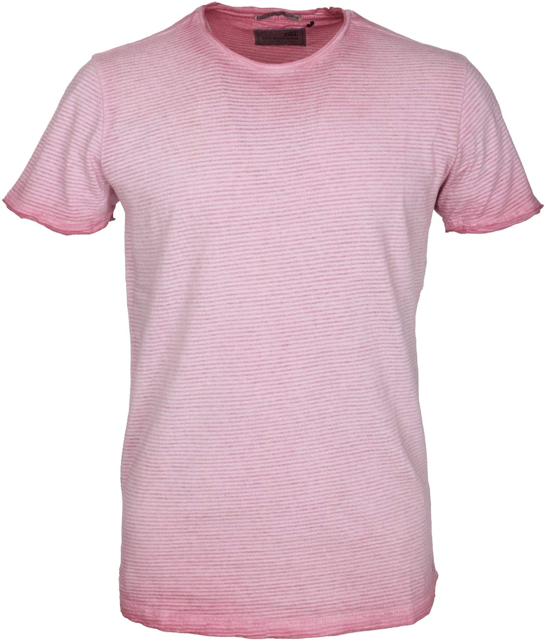No-Excess T-shirt Roze Streep foto 0