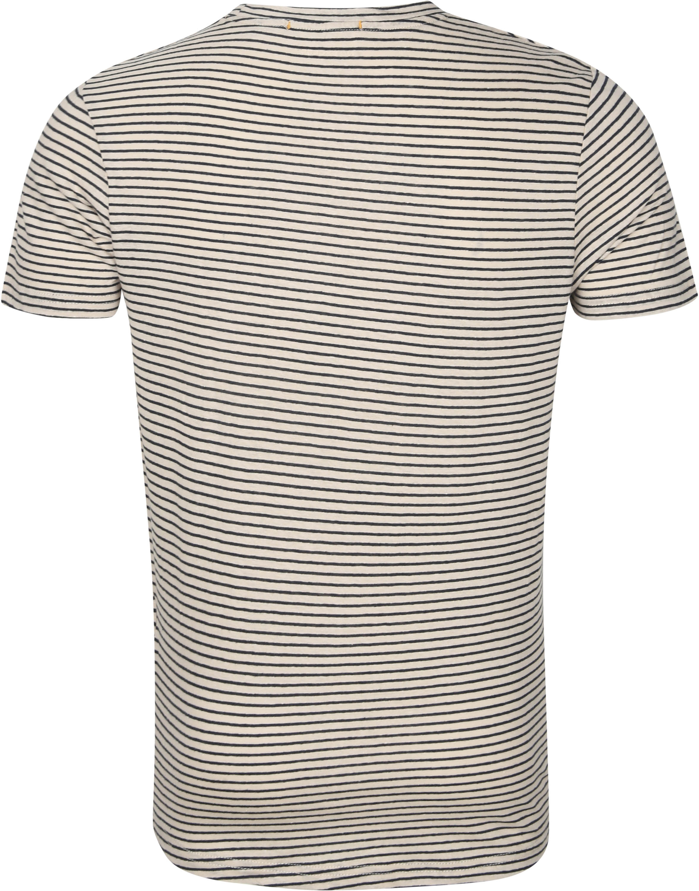 No-Excess T-Shirt Strepen Yarn Dye Beige