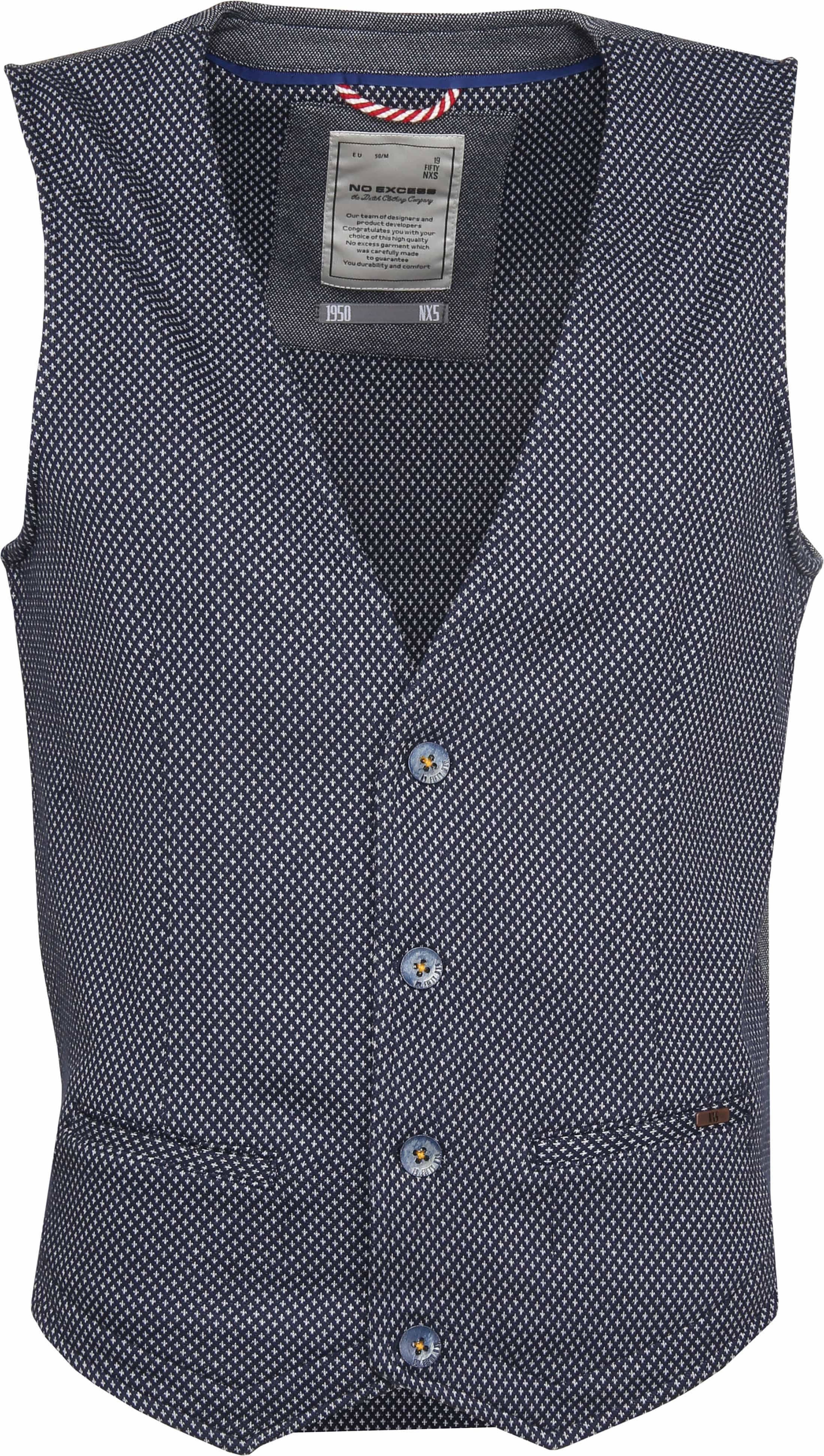 No-Excess Waistcoat Dyed Jacquard foto 0