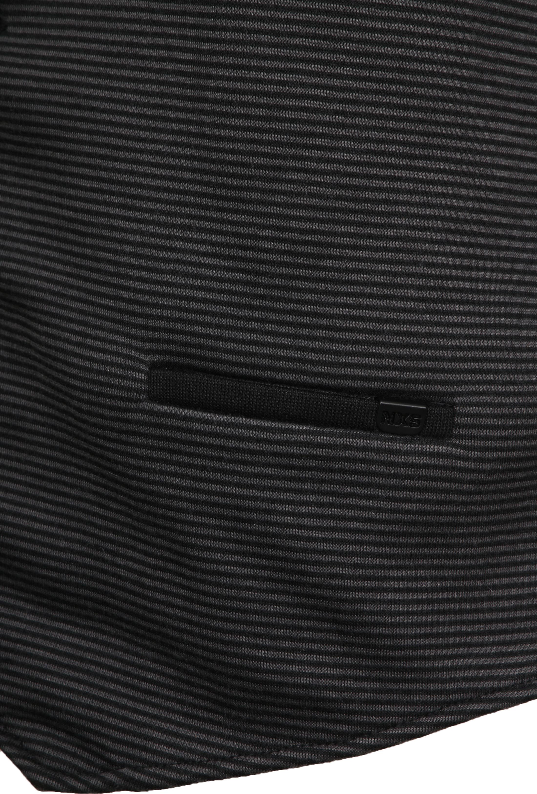 No-Excess Waistcoat Knitted Stripe Dark Grey foto 3