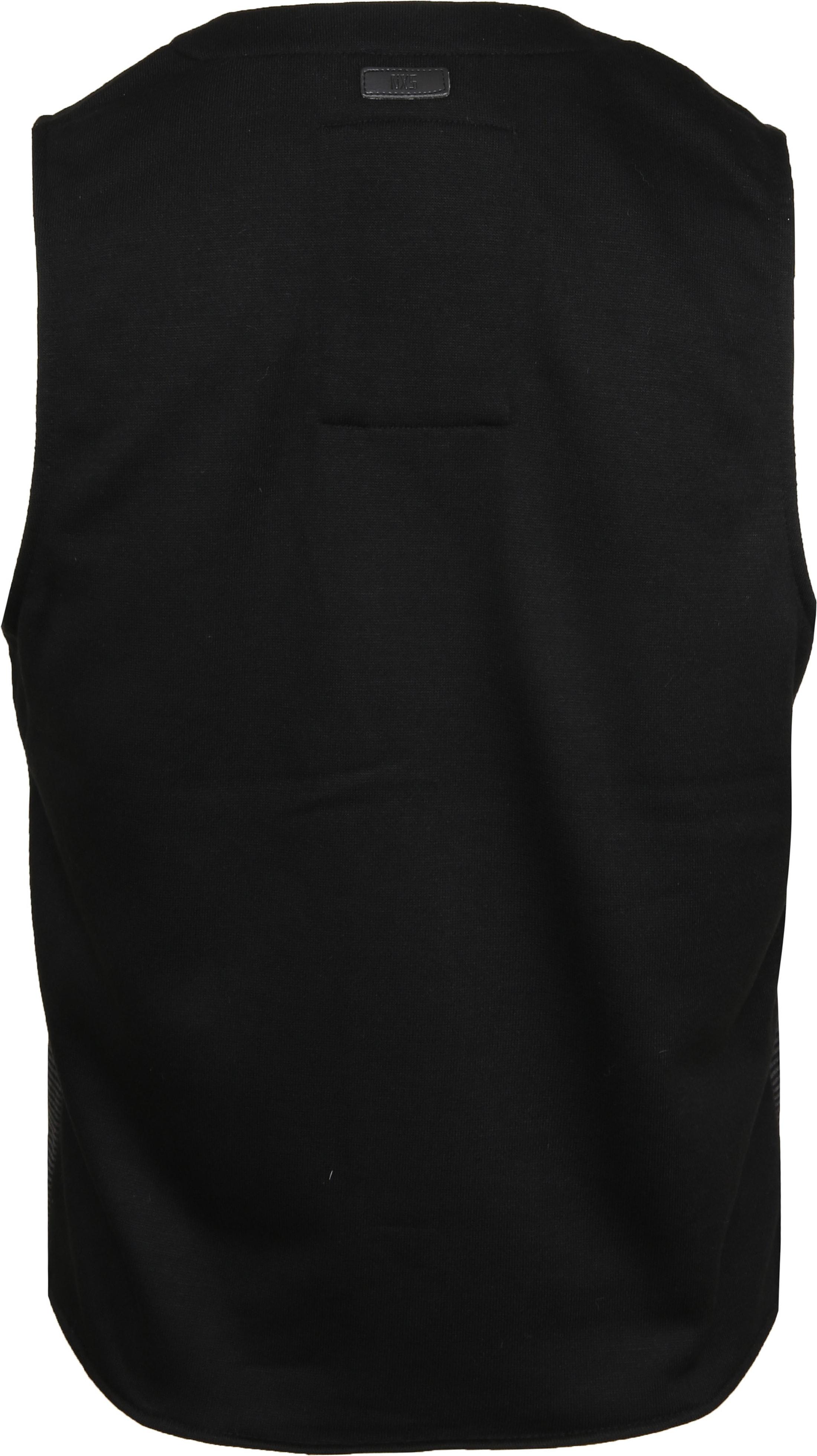 No-Excess Waistcoat Knitted Stripe Dark Grey foto 4