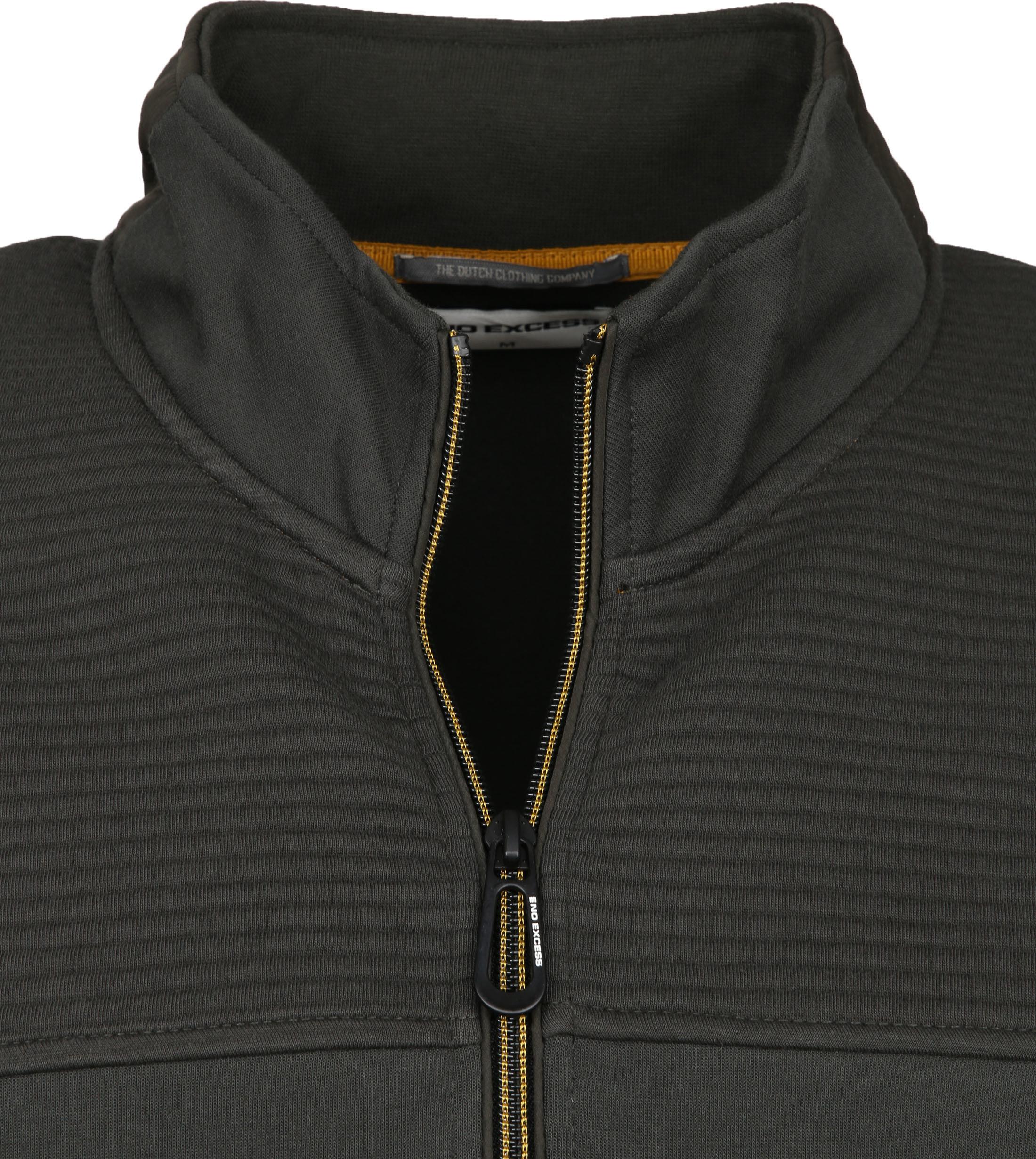 No-Excess Zip Vest Donkergroen 052 - Donkergroen maat L