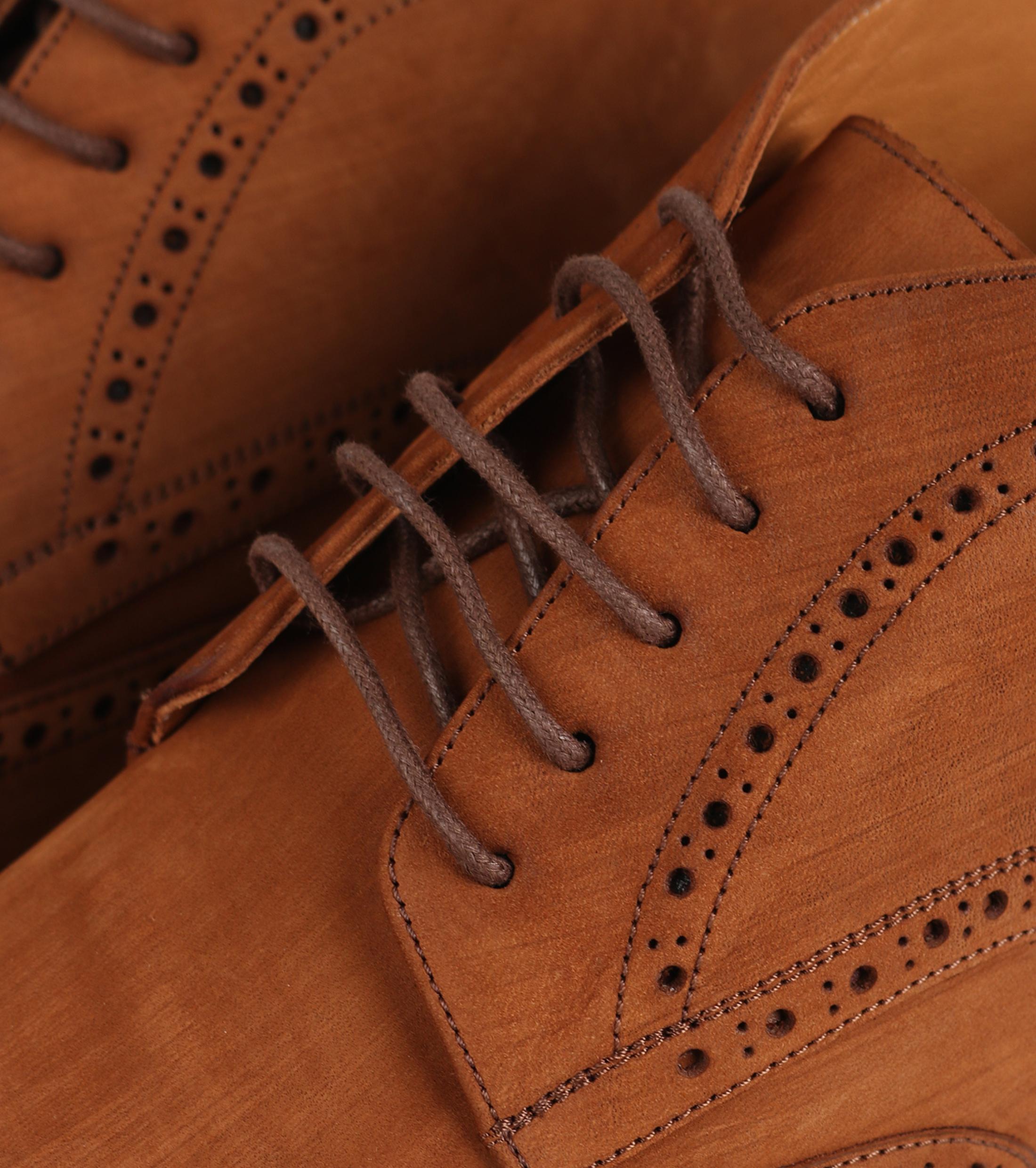 Nubuck Brogue Boots Cognac foto 1