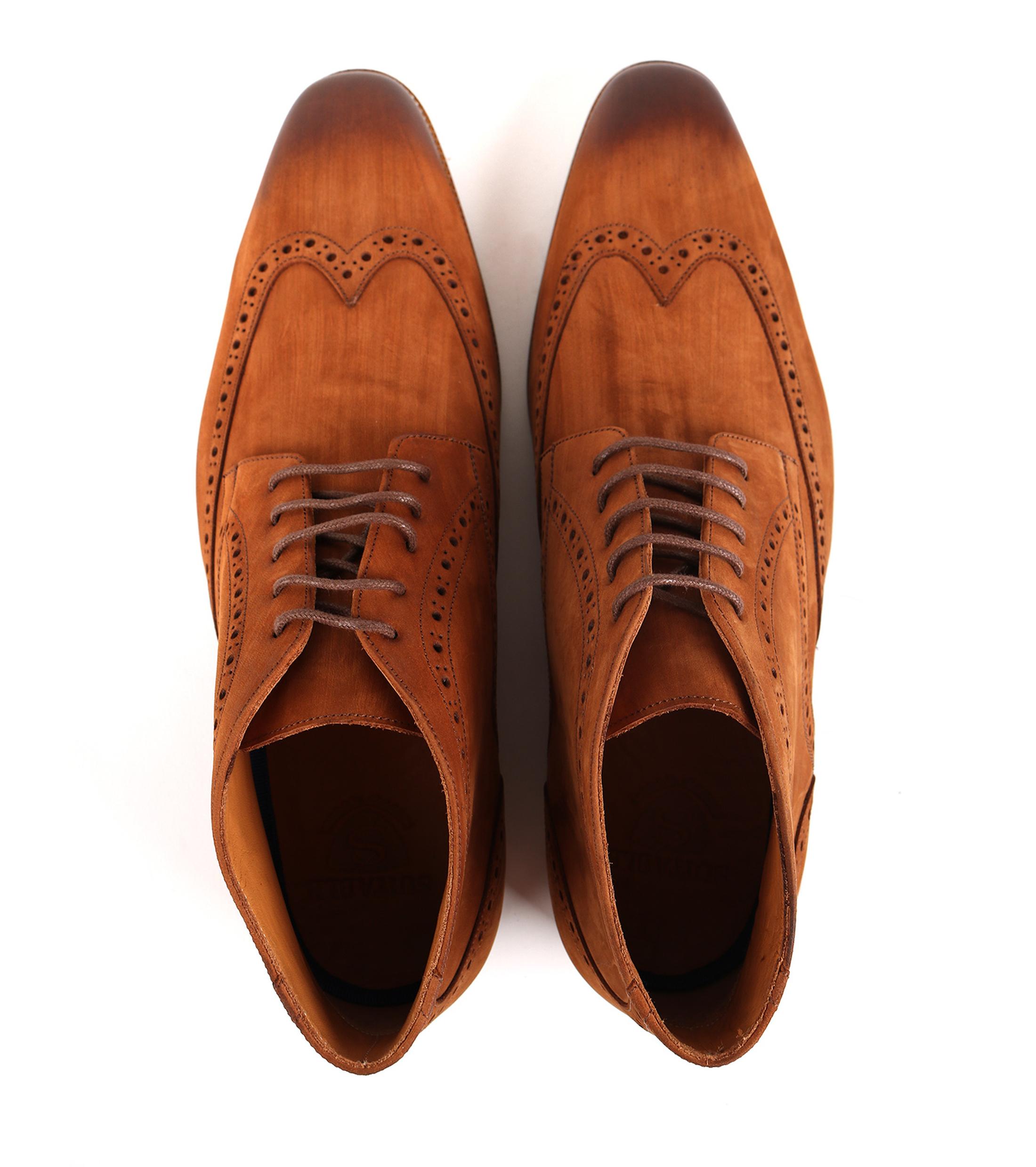 Nubuck Brogue Boots Cognac foto 2