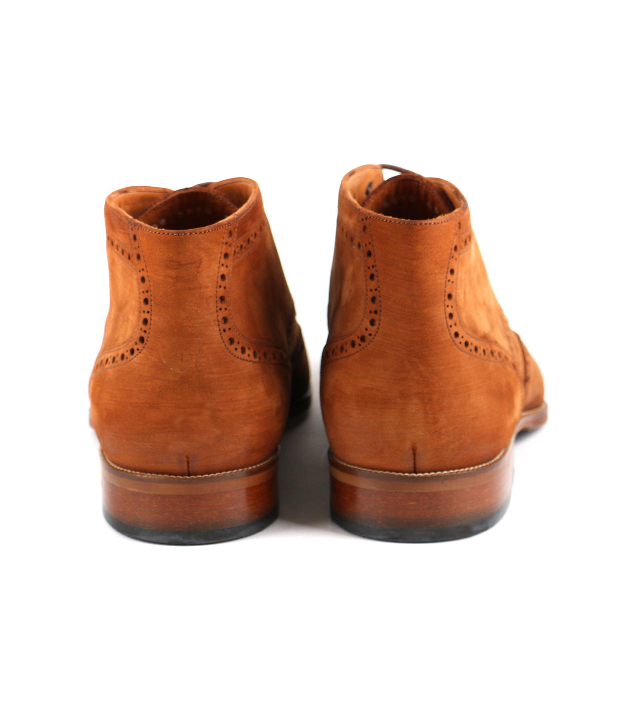 Nubuck Brogue Boots Cognac foto 3