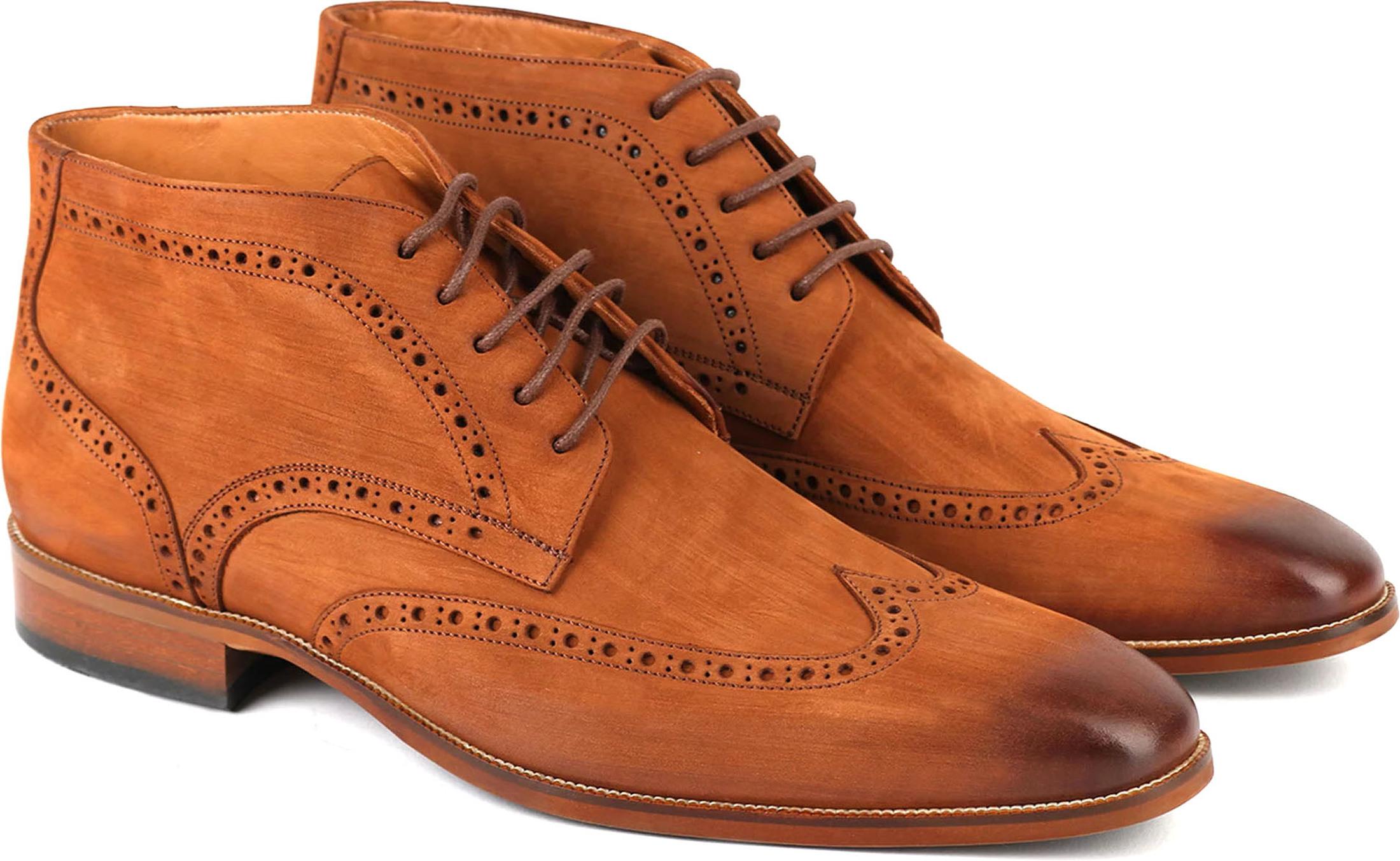 Nubuck Brogue Boots Cognac foto 0
