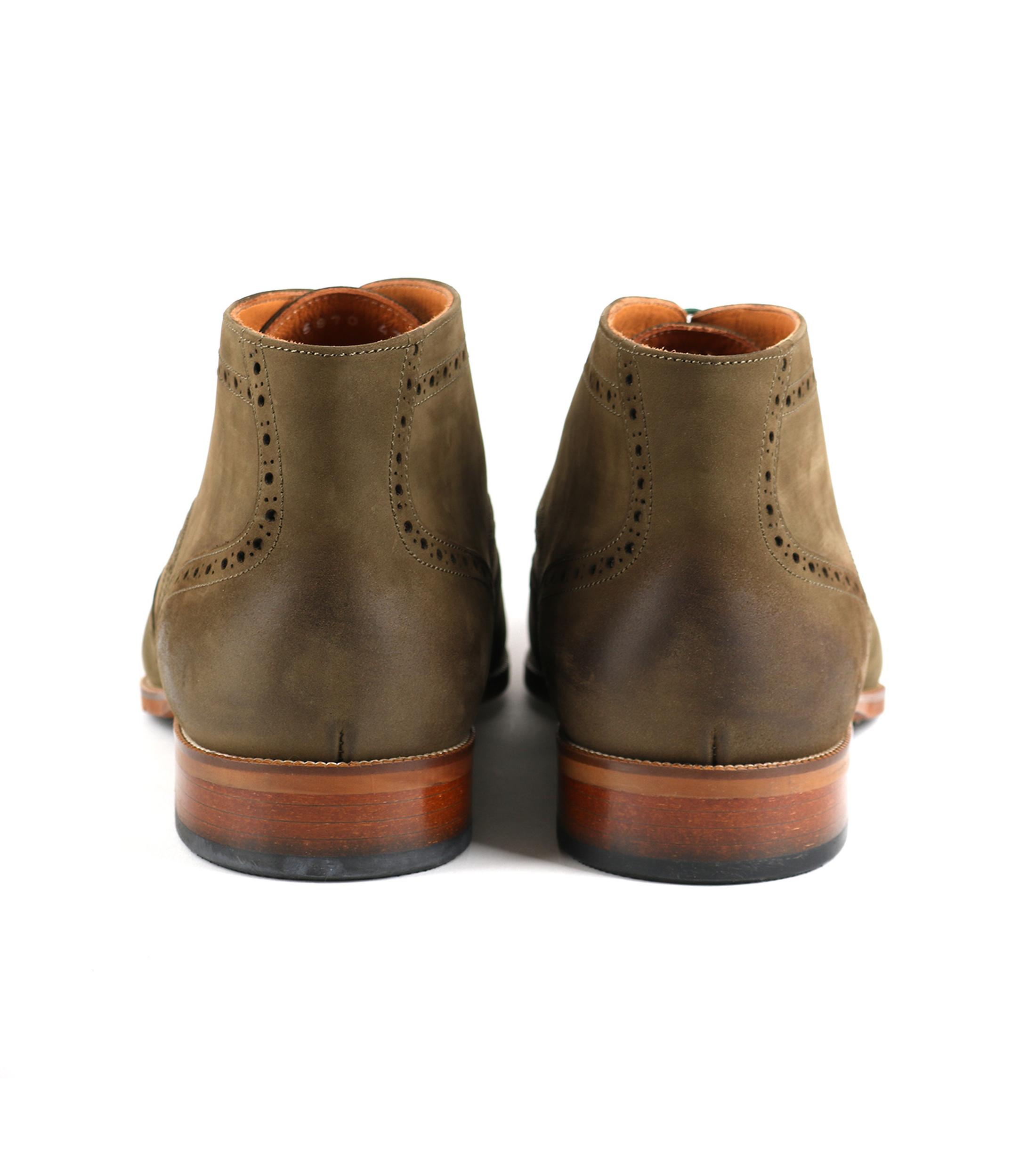 Nubuck Brogue Boots Groen foto 3