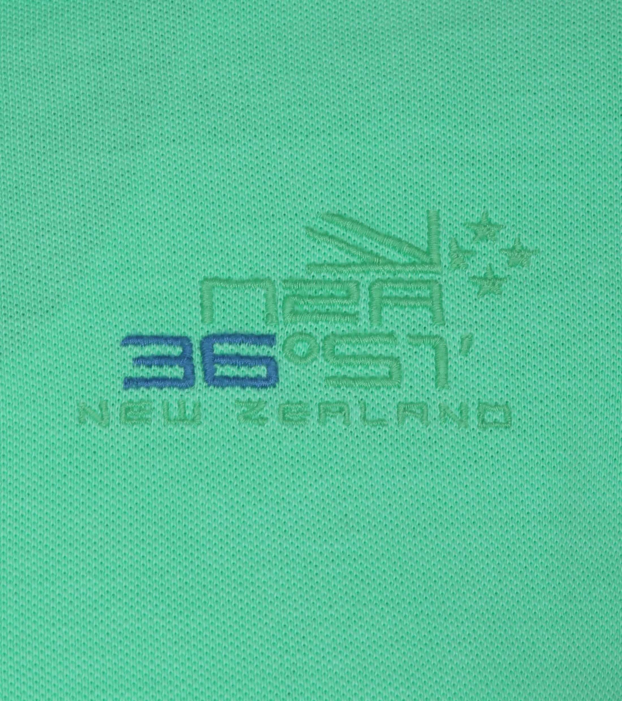NZA Oakura Poloshirt Neon Groen foto 2
