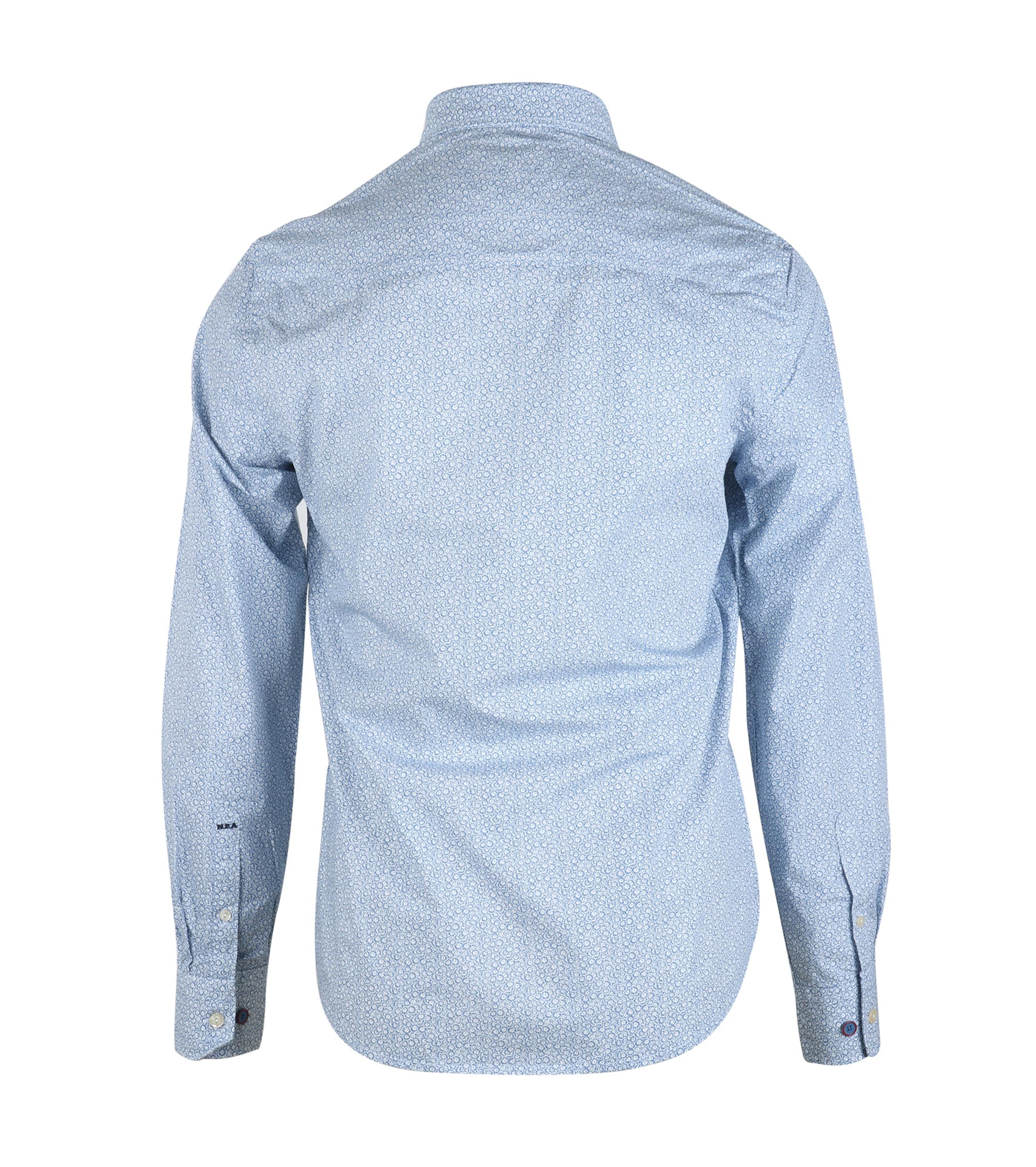 NZA Overhemd Blauw 16MN506 foto 1