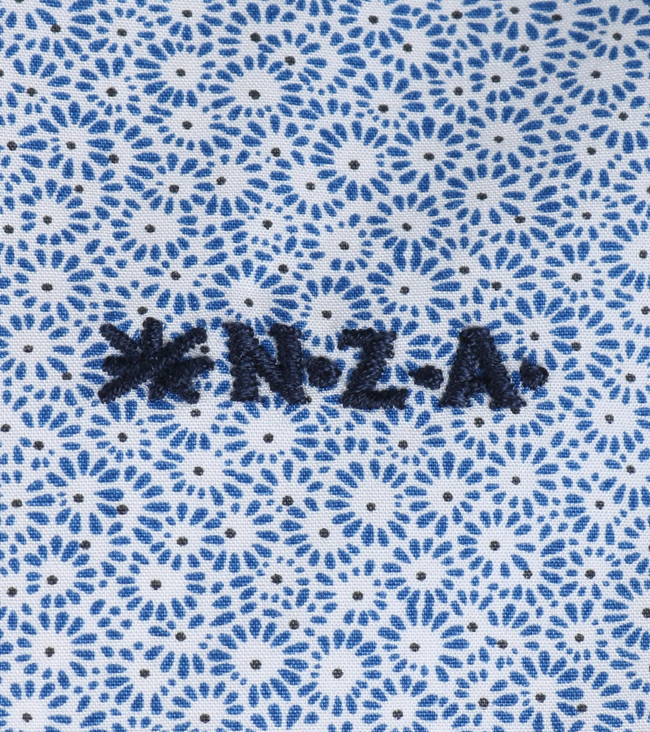NZA Overhemd Blauw 16MN506 foto 2