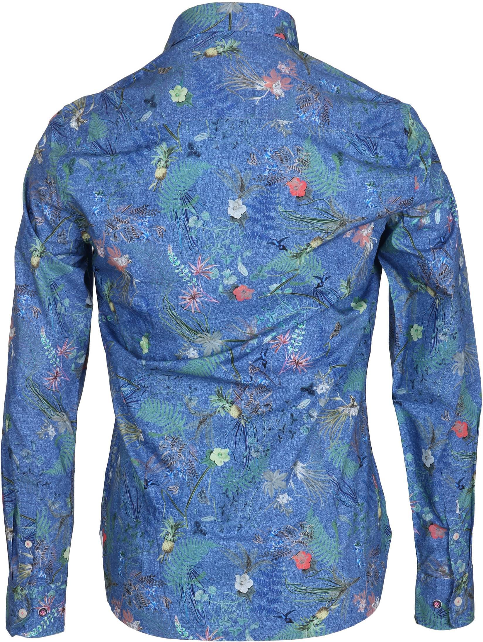 NZA Overhemd Fairhall Blauw Print foto 2