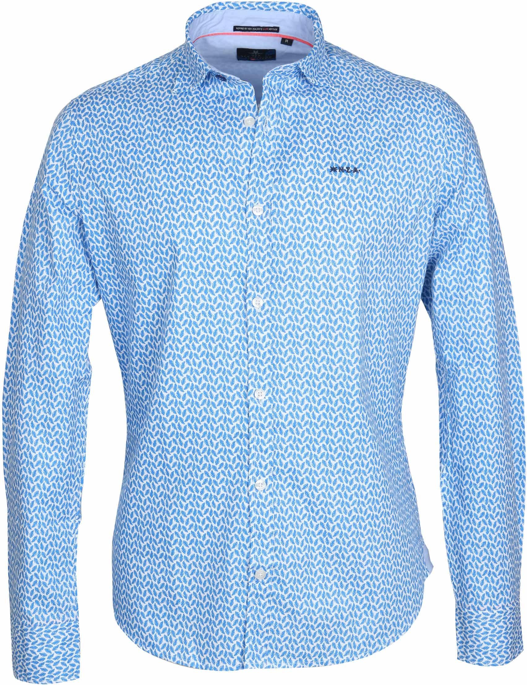 NZA Overhemd Jasper Blauw Print foto 0