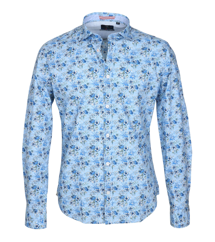 NZA Overhemd Kairaki Blauw Print foto 0