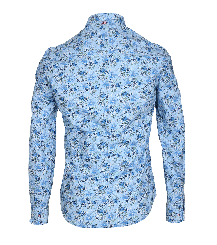 NZA Overhemd Kairaki Blauw Print foto 2