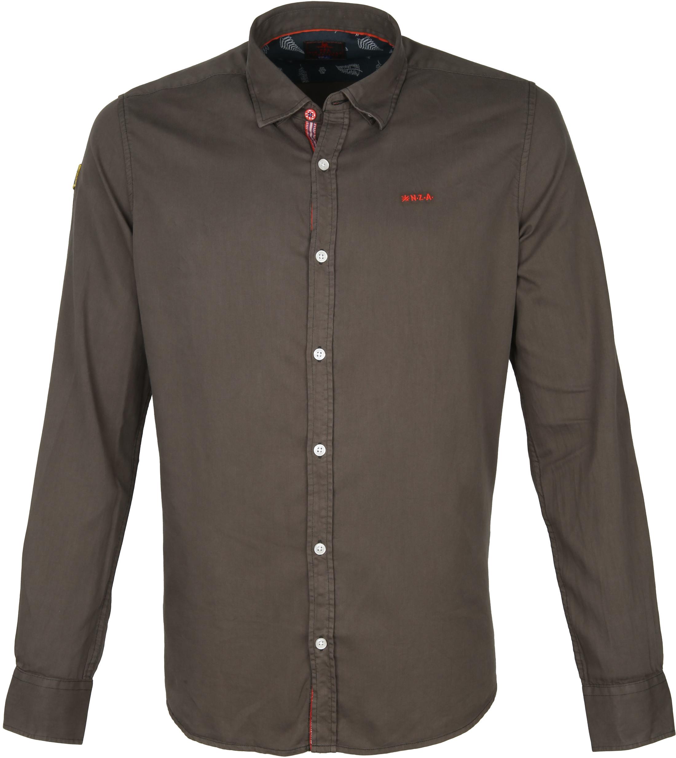 NZA Overhemd Tapuaeroa Donkergroen