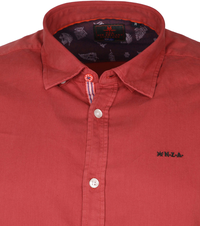 NZA Overhemd Tapuaeroa Rood