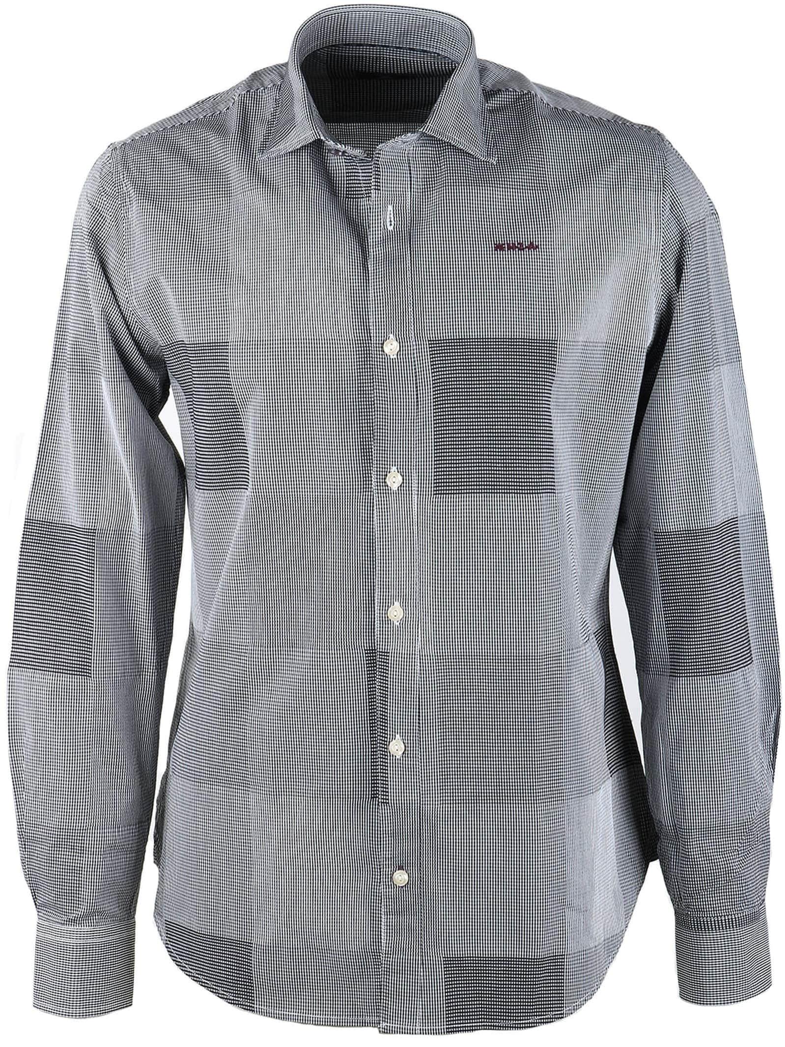 Overhemd Zwart Wit.Nza Overhemd Zwart Wit Ruit 16kn546