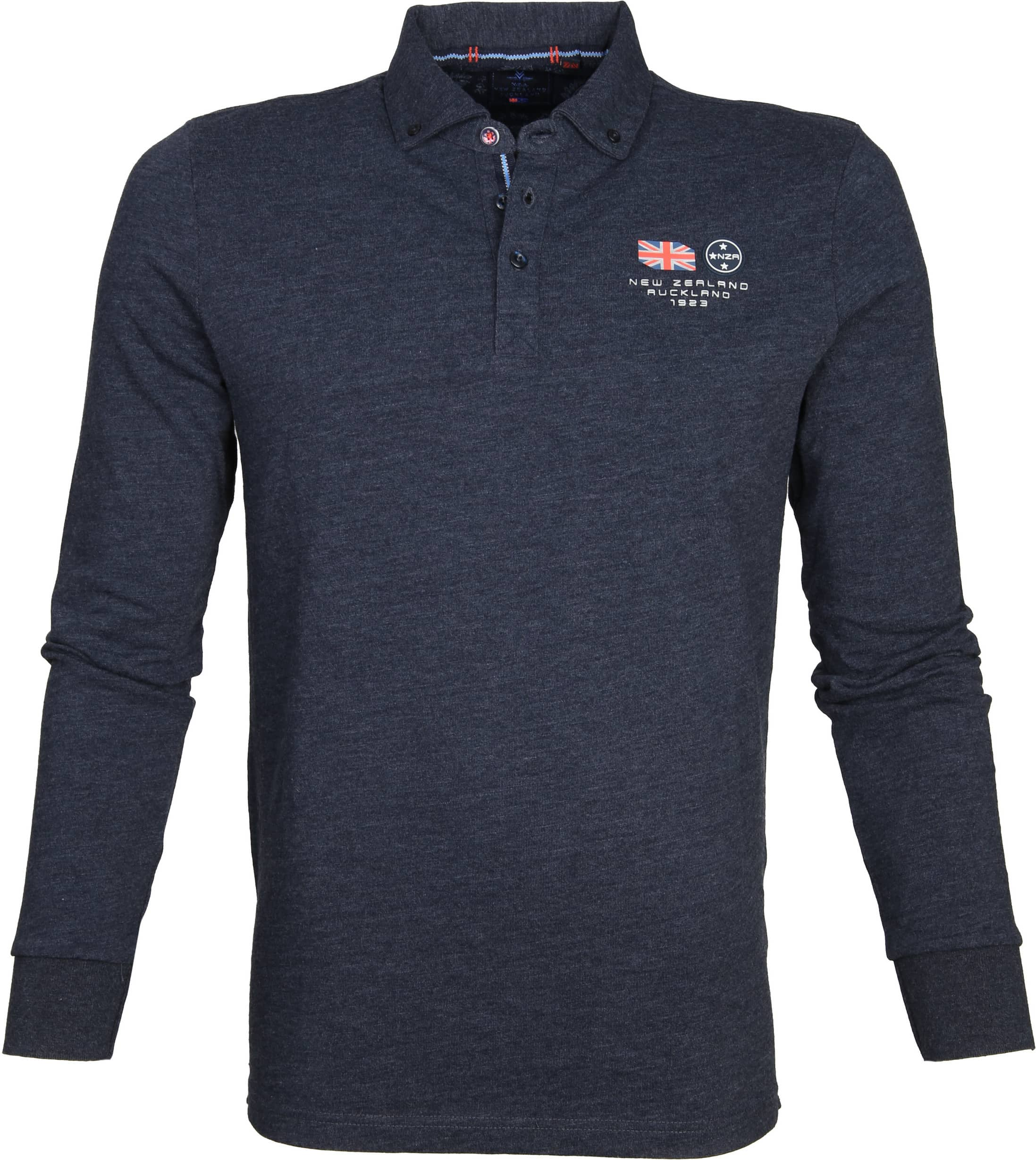 NZA Polo LS Marchant Navy foto 0