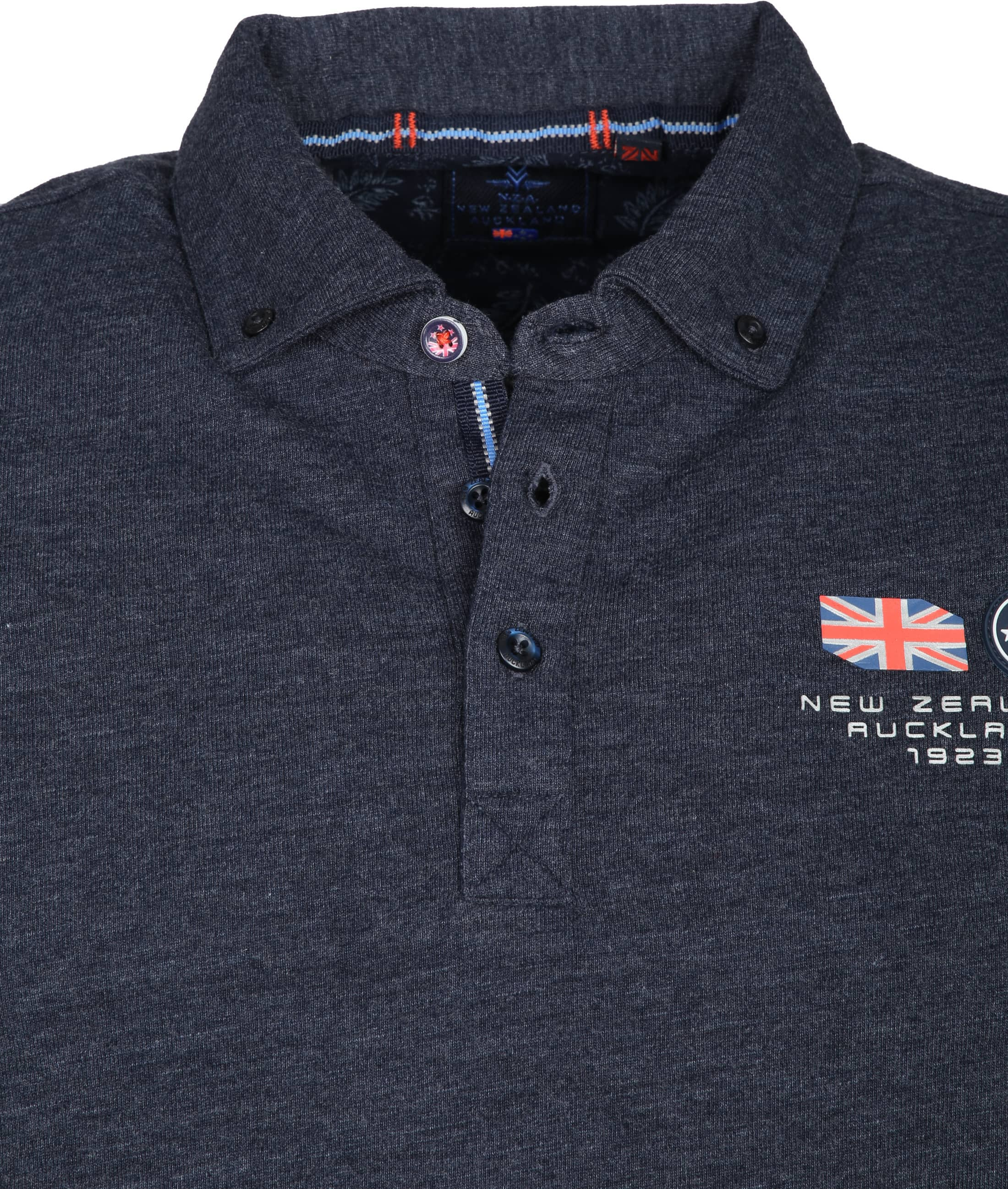 NZA Polo LS Marchant Navy foto 1