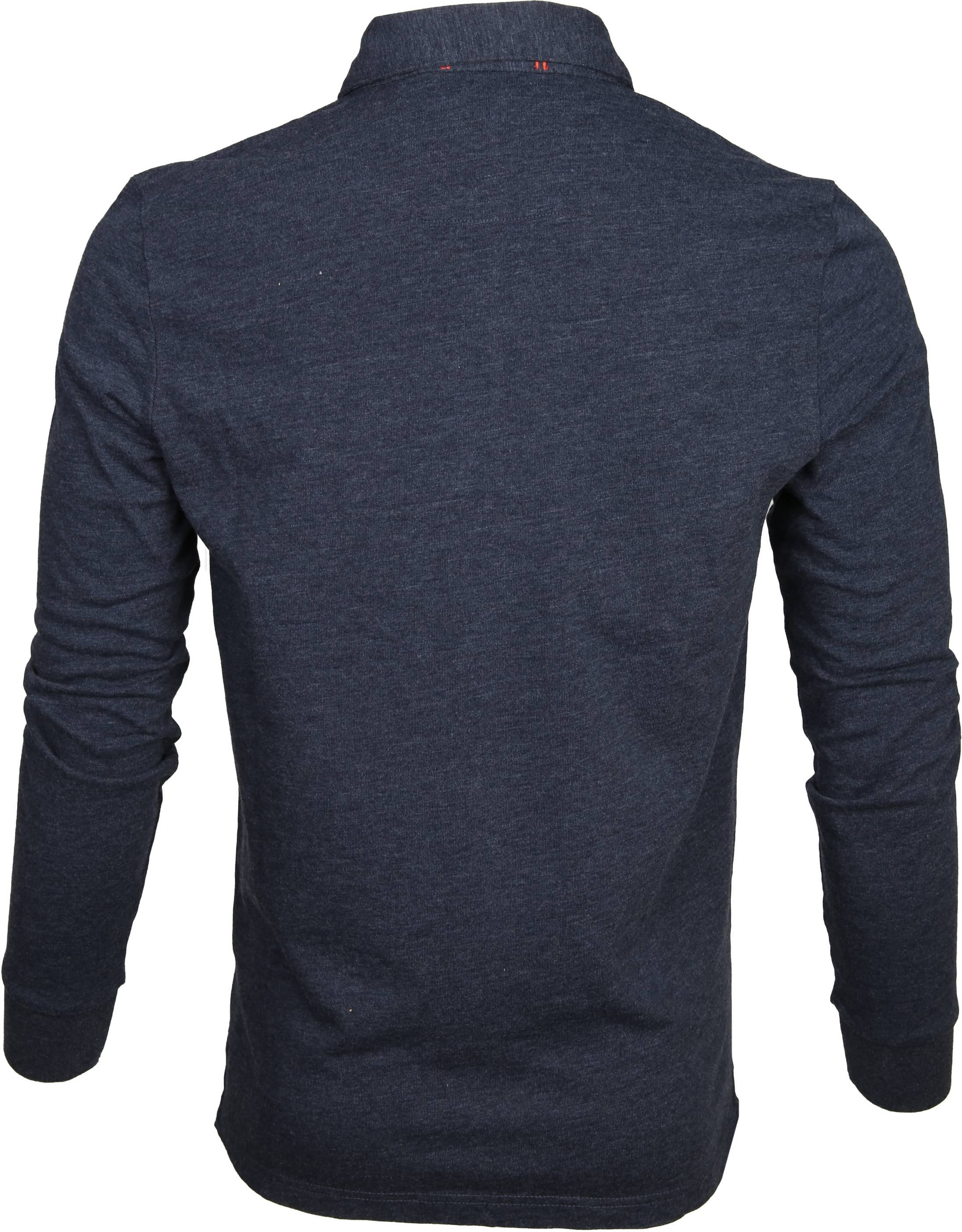 NZA Polo LS Marchant Navy foto 3