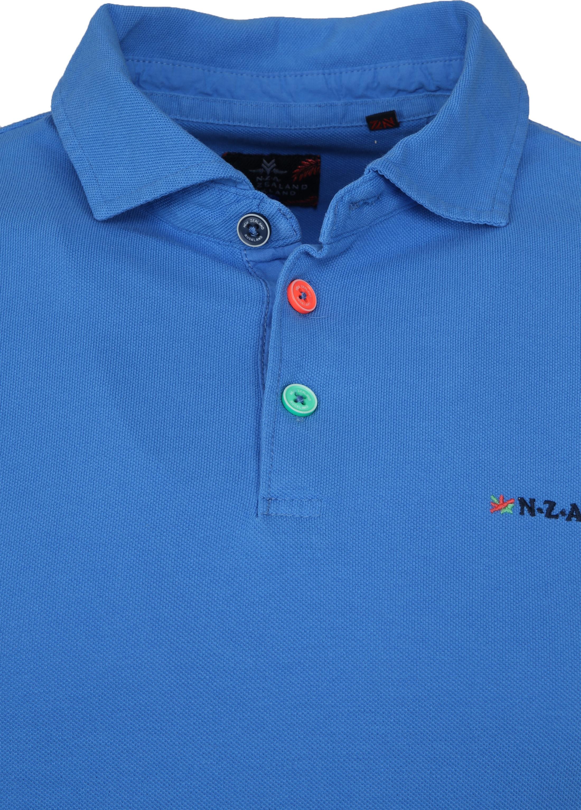 NZA Poloshirt Waiapu Blue foto 1