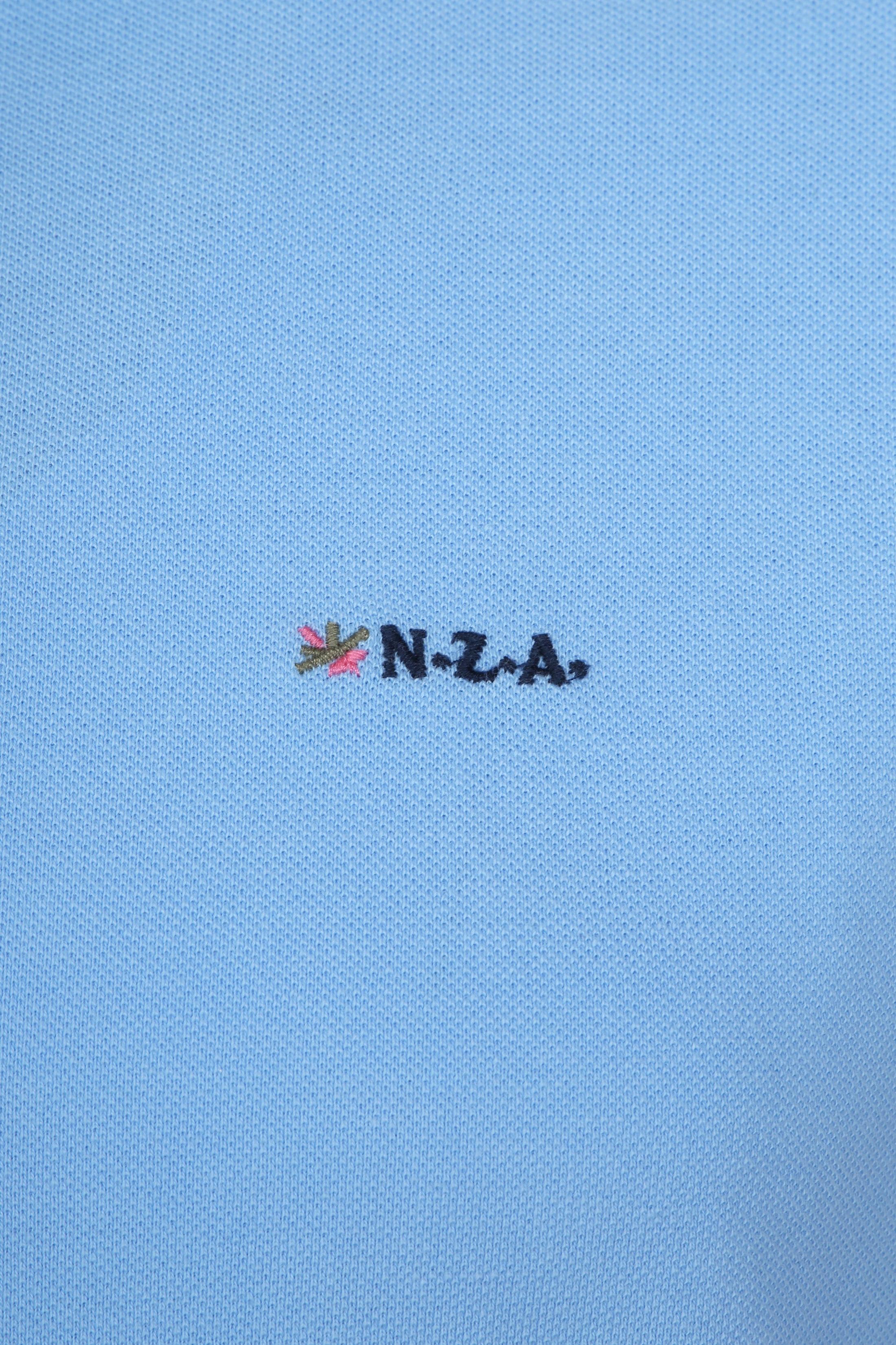 NZA Poloshirt Waiapu Light Blue foto 2