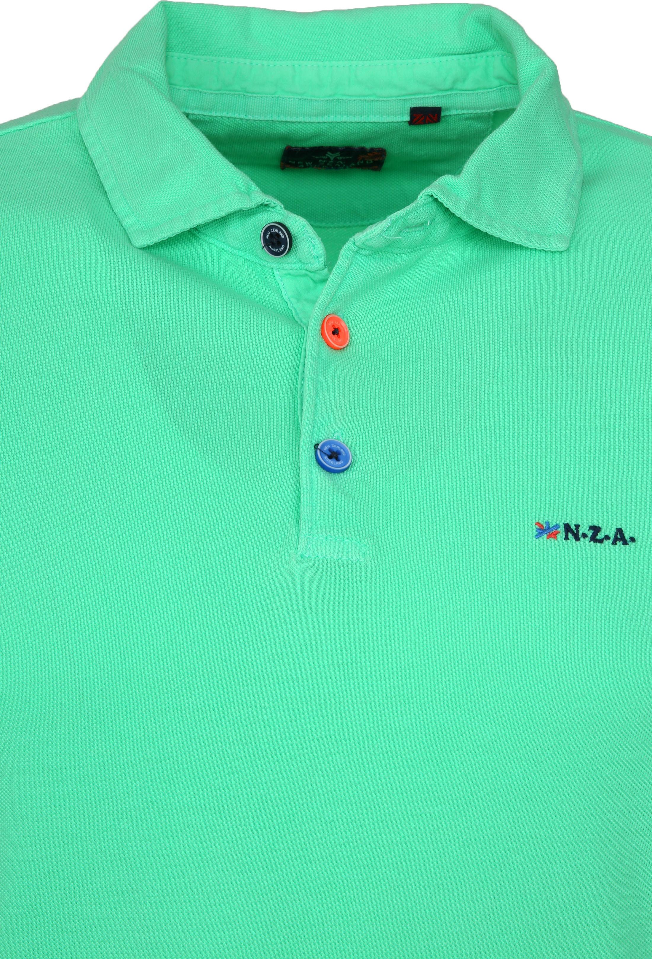 NZA Poloshirt Waiapu Neon Green foto 1