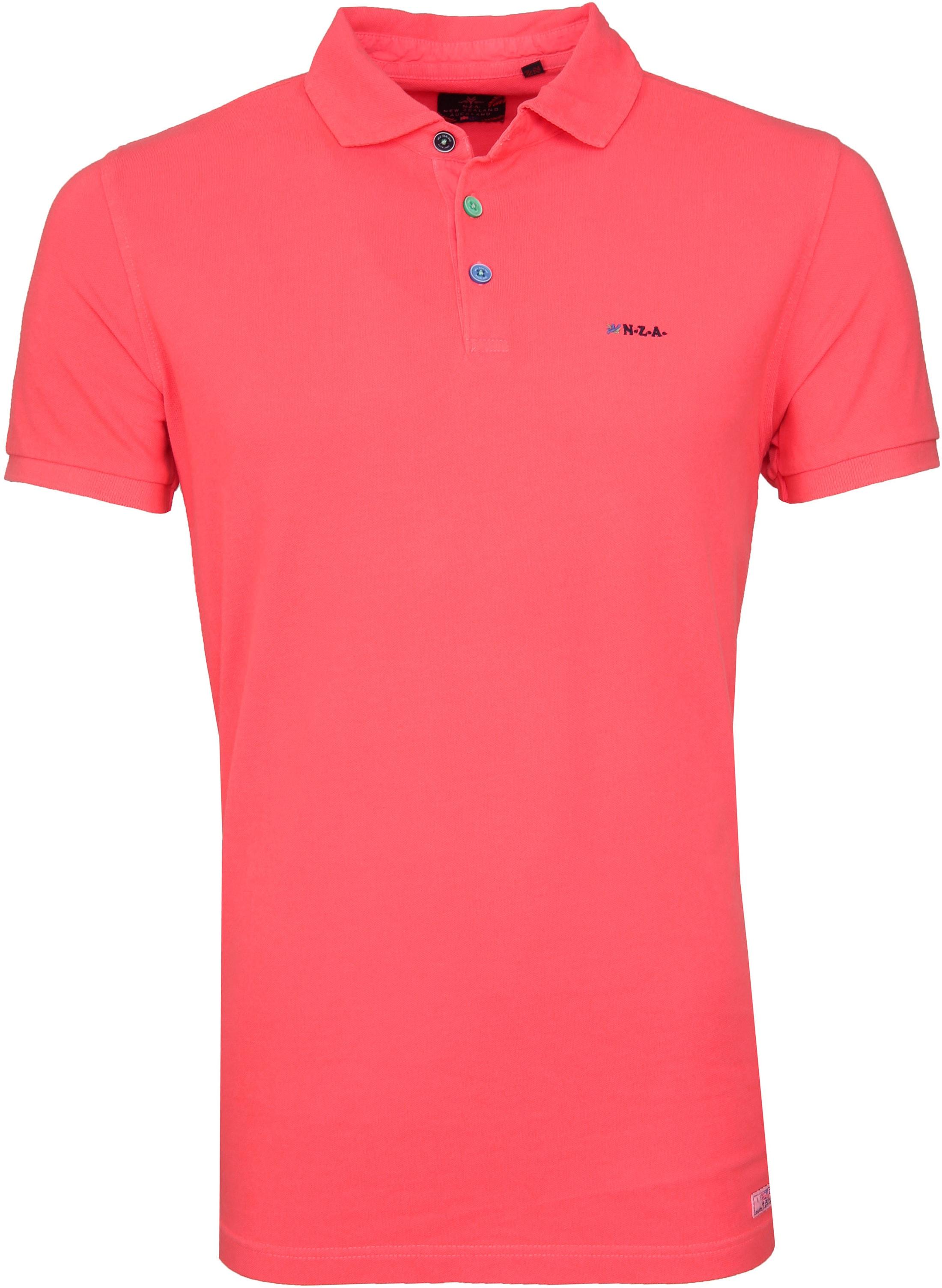 NZA Poloshirt Waiapu Neon Pink foto 0