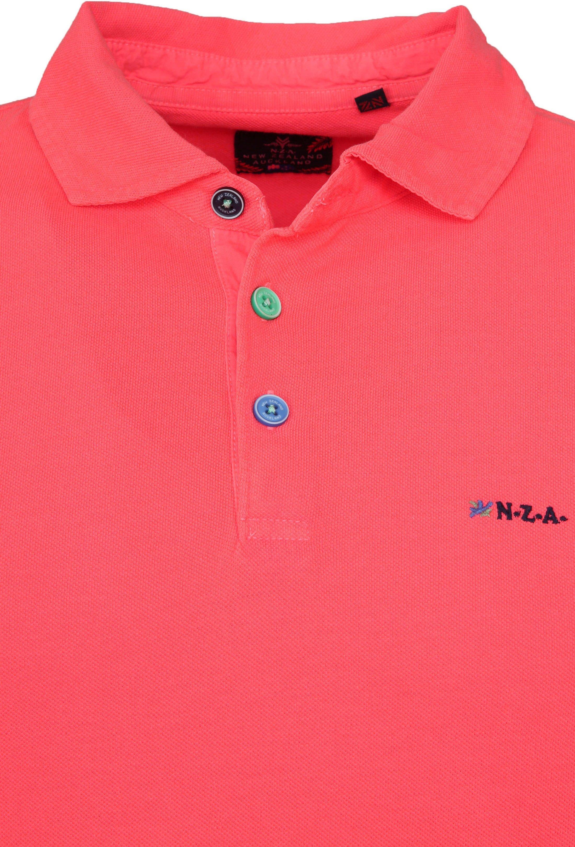 NZA Poloshirt Waiapu Neon Pink foto 1