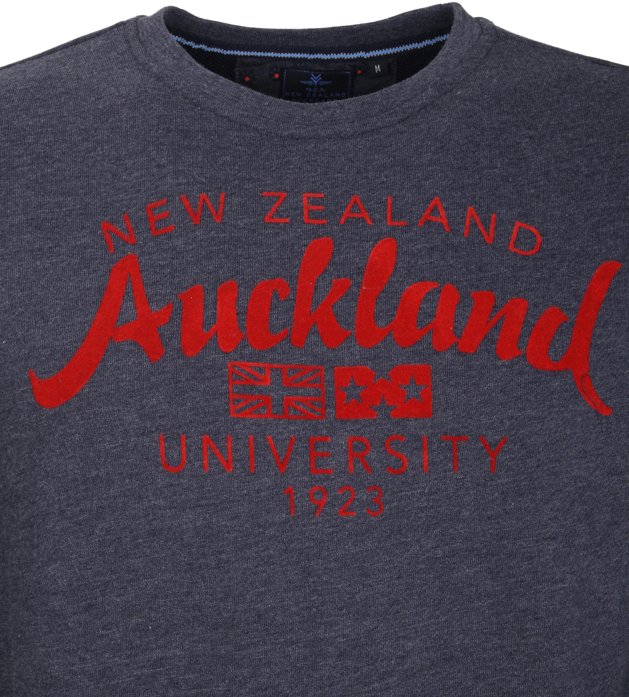 NZA Pullover Dunkelblau Logo foto 2