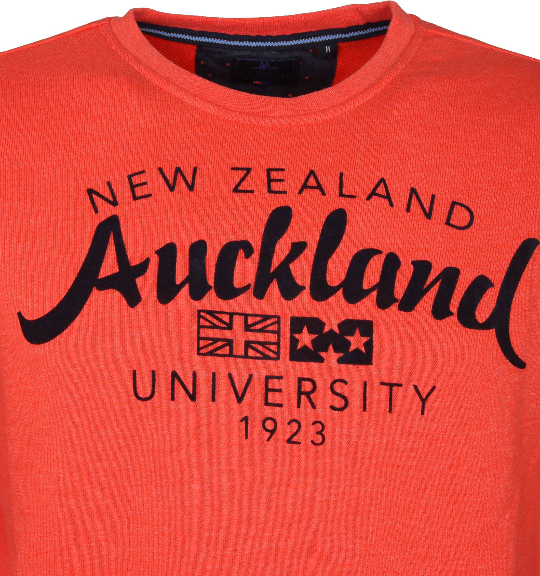 NZA Pullover Orange Logo foto 2