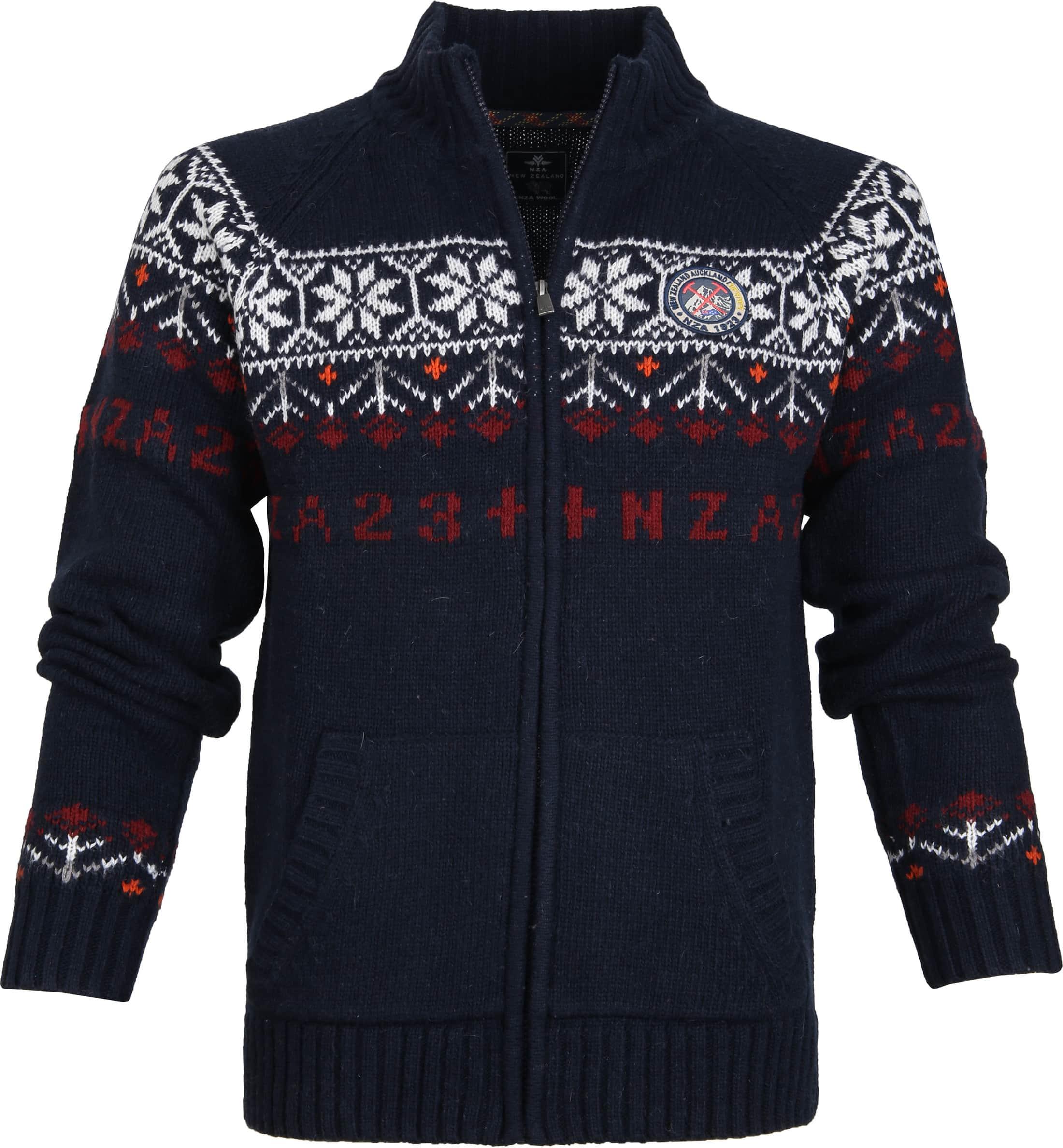 NZA NEW ZEALAND Auckland Sweatjacke Cardigan blau Gr. XXL