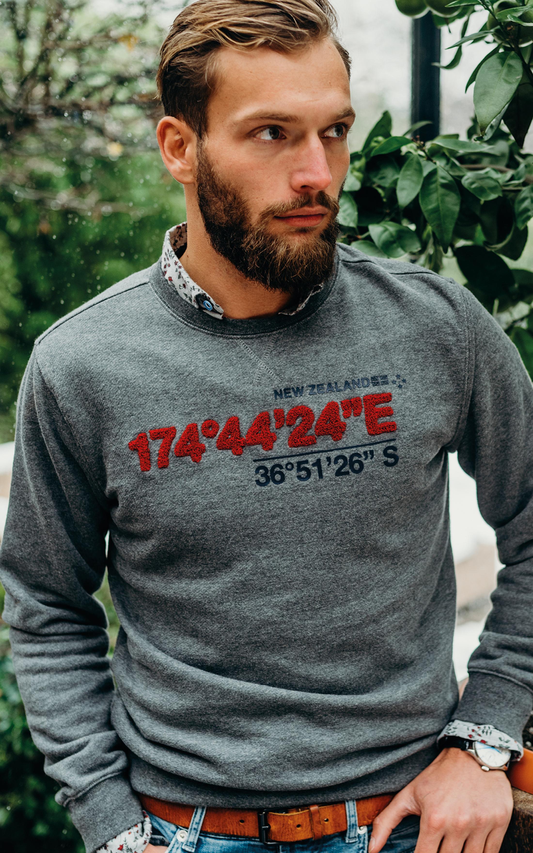 NZA Sweater Grijs Print foto 1