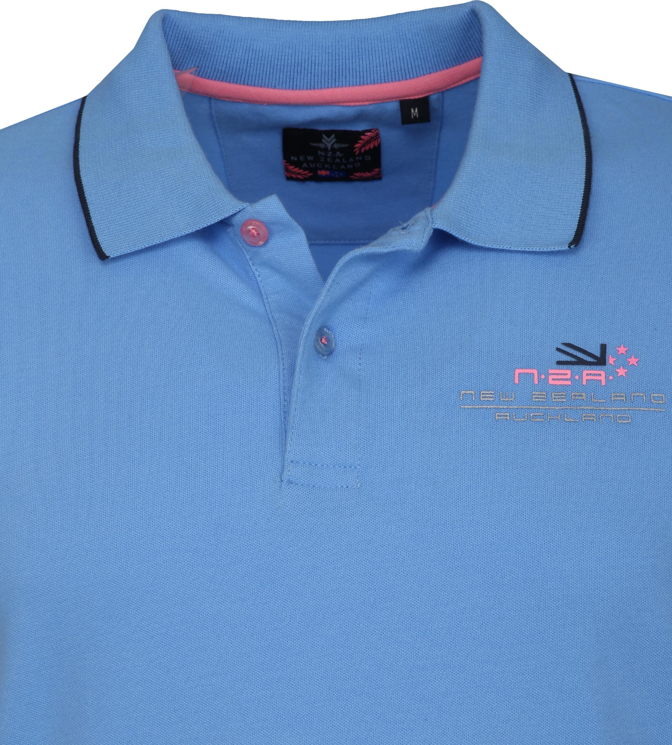 NZA Wahapo Poloshirt Blauw foto 1
