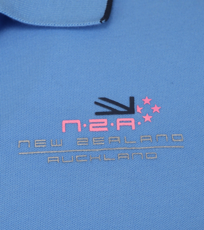 NZA Wahapo Poloshirt Blauw foto 2