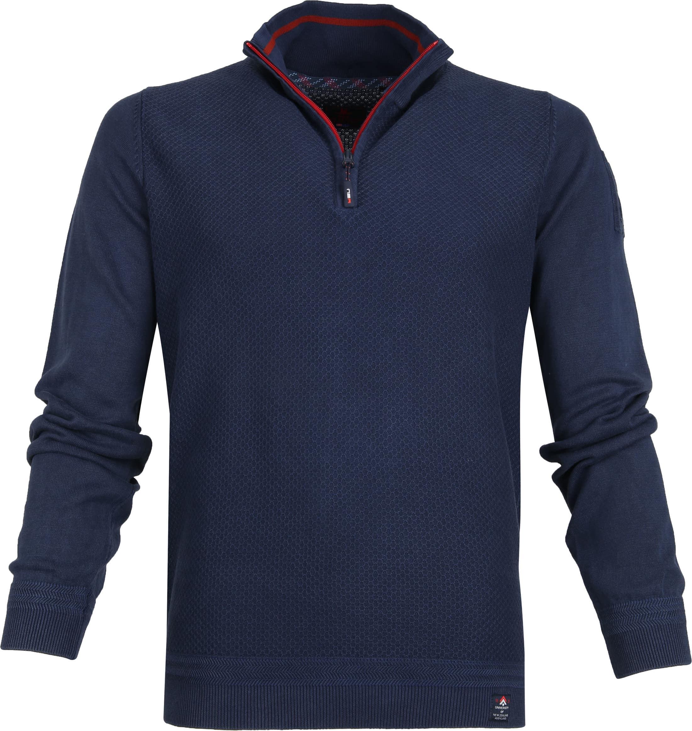 NZA Waihara Zipper Pullover Navy foto 0