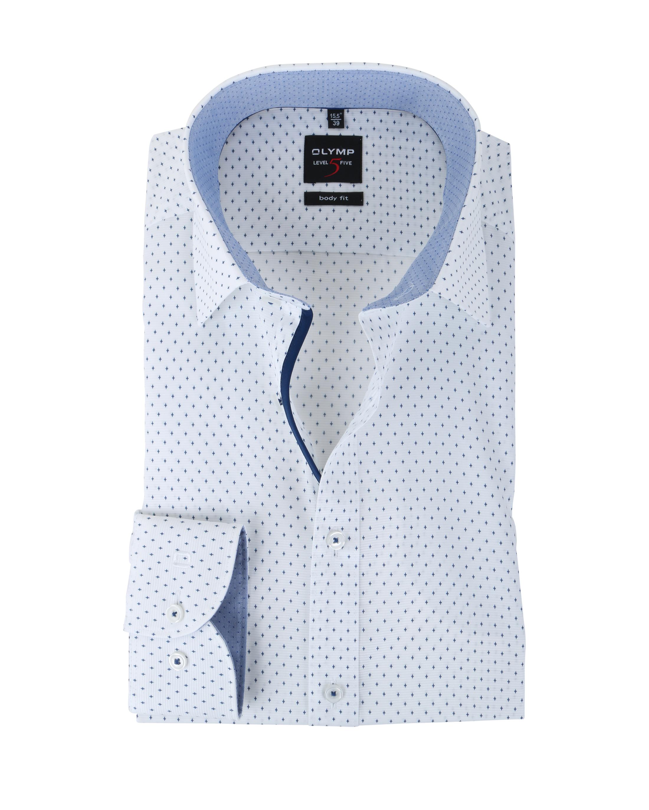 olymp hemd body fit wit sterretjes online bestellen suitable. Black Bedroom Furniture Sets. Home Design Ideas