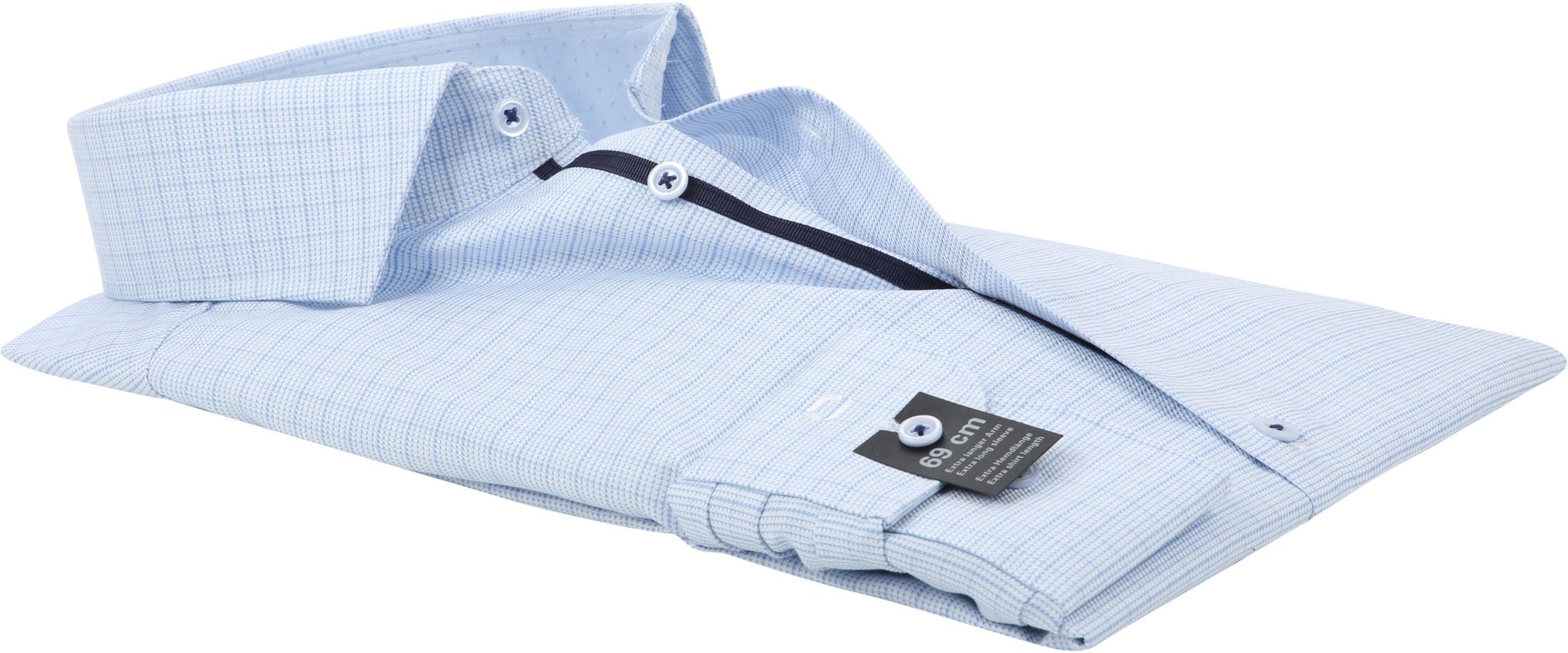 OLYMP Level 5 Blue Shirt BF SL7 Checks foto 3