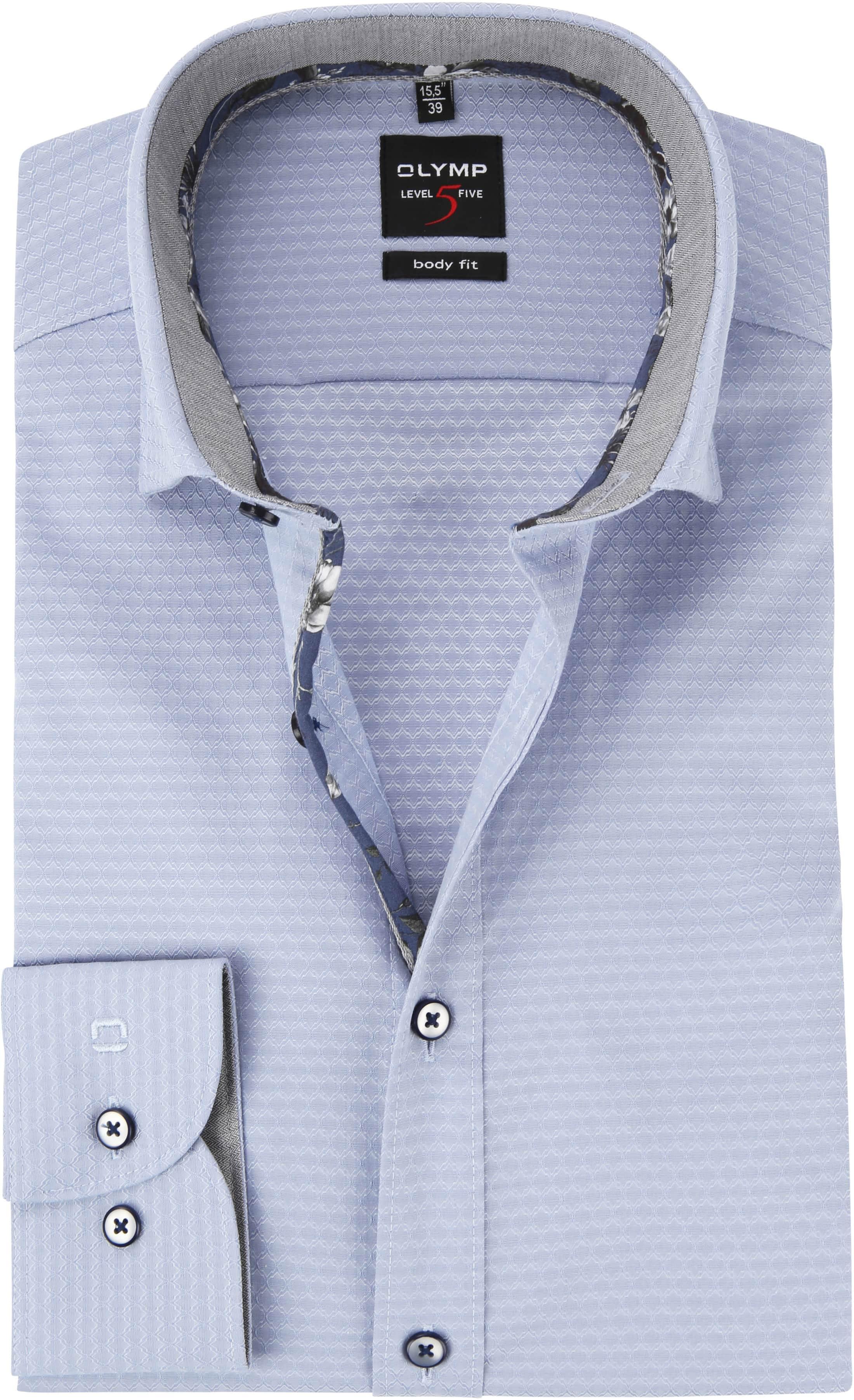 OLYMP Level 5 Overhemd Blauw Dessin foto 0