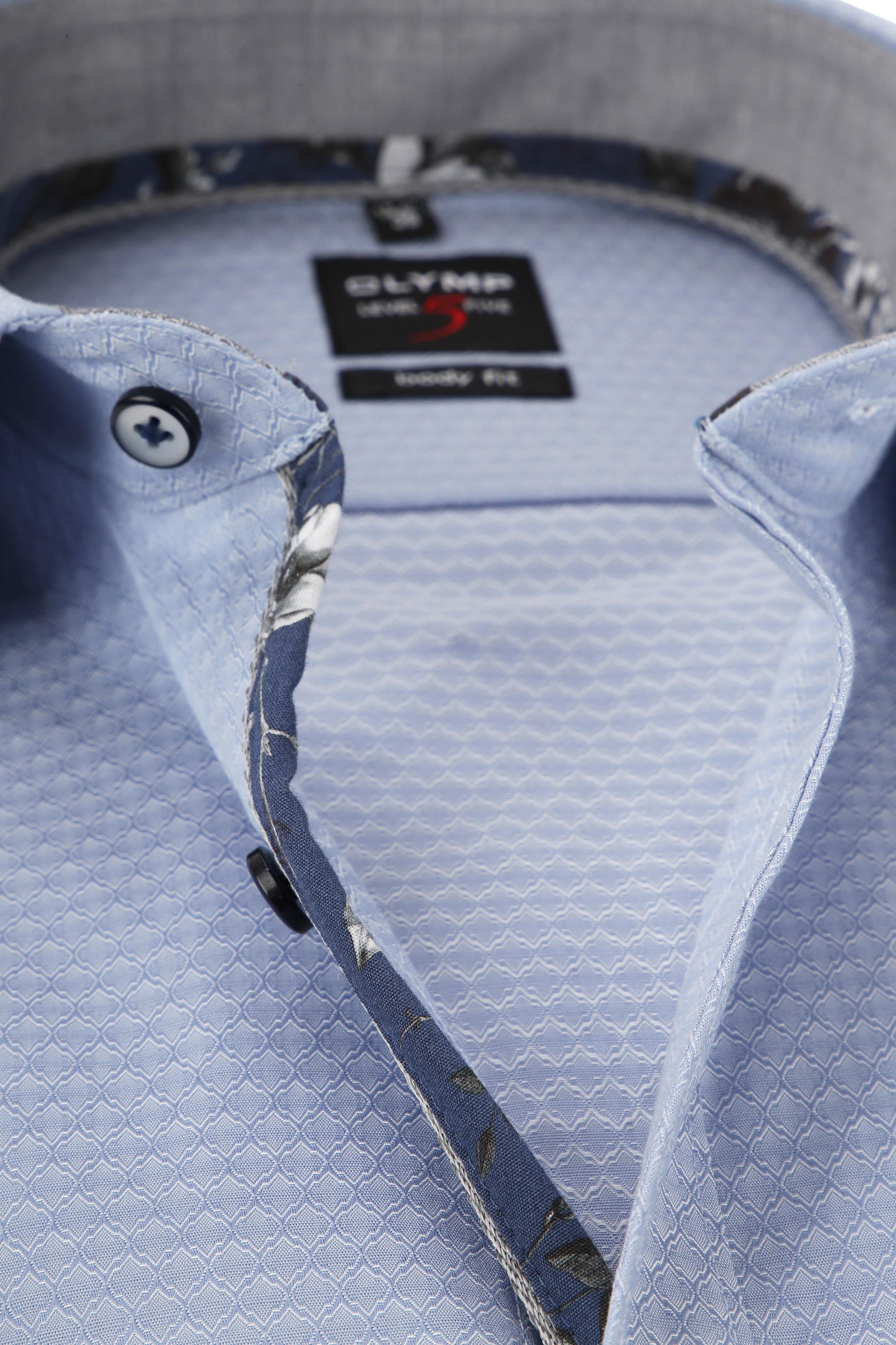 OLYMP Level 5 Overhemd Blauw Dessin foto 1