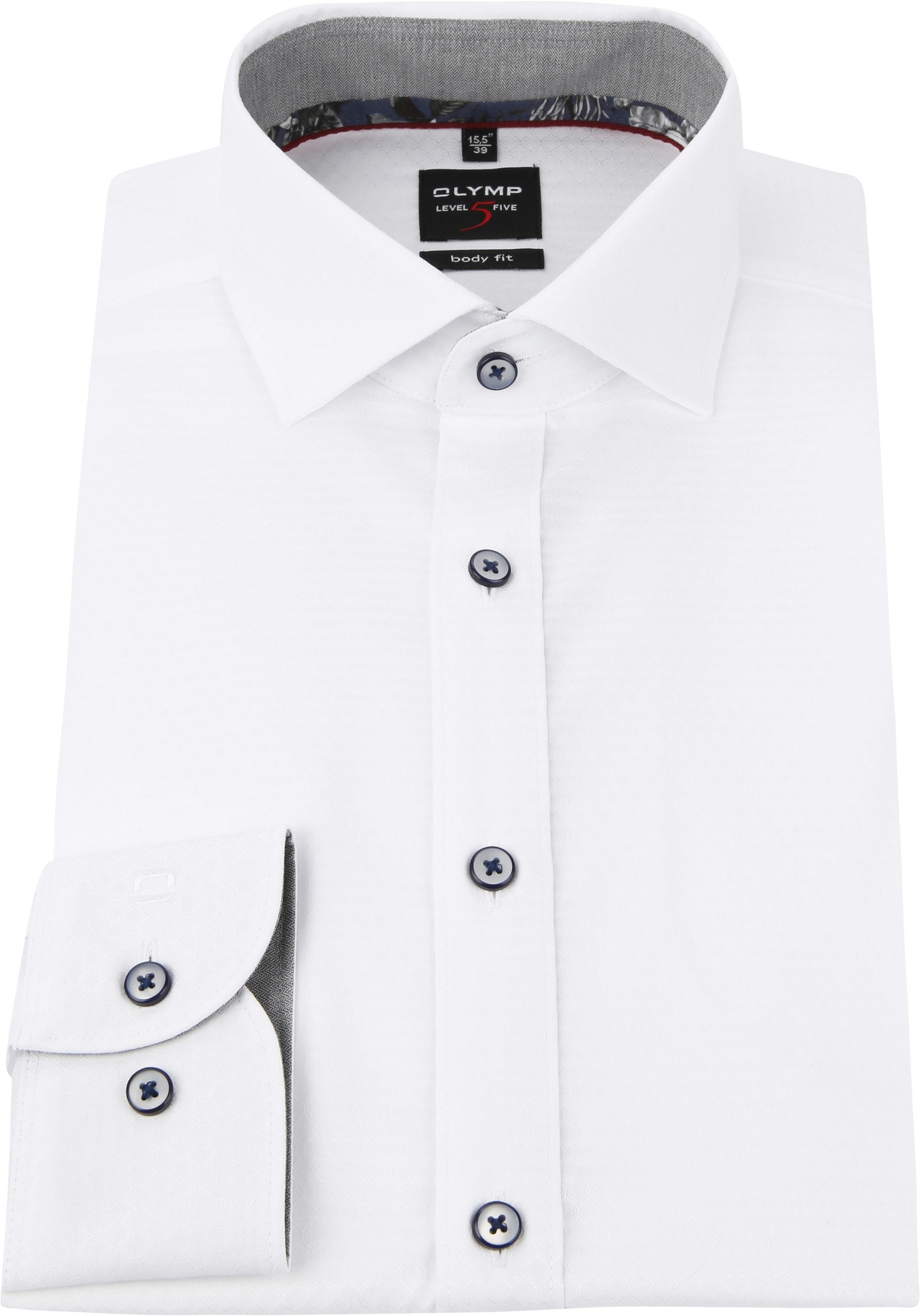 OLYMP Level 5 Overhemd Wit Dessin foto 2