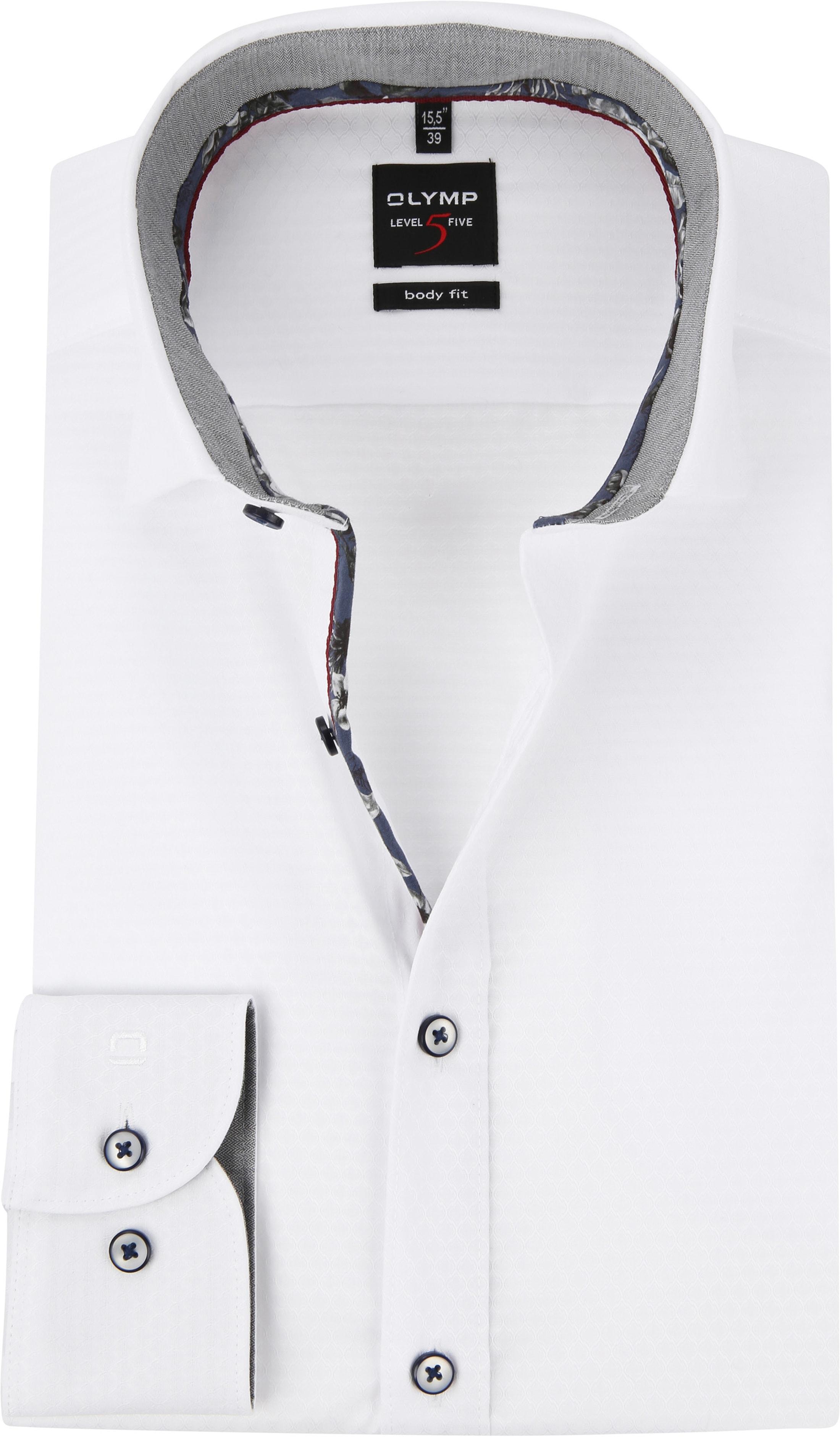 OLYMP Level 5 Shirt White Dessin photo 0