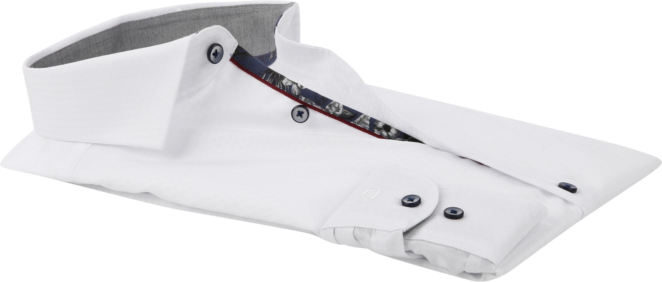OLYMP Level 5 Shirt White Dessin photo 3